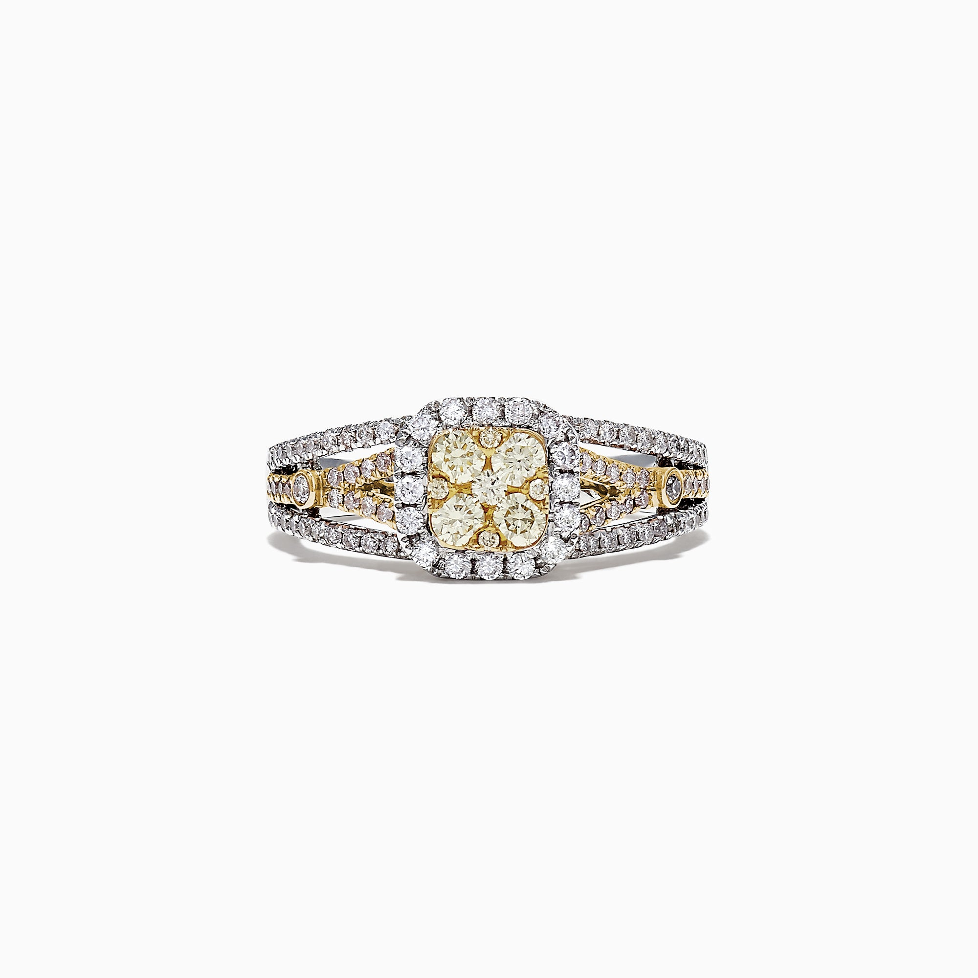 Effy Canare 14K Two-Tone Gold White and Yellow Diamond Ring, .72 TCW