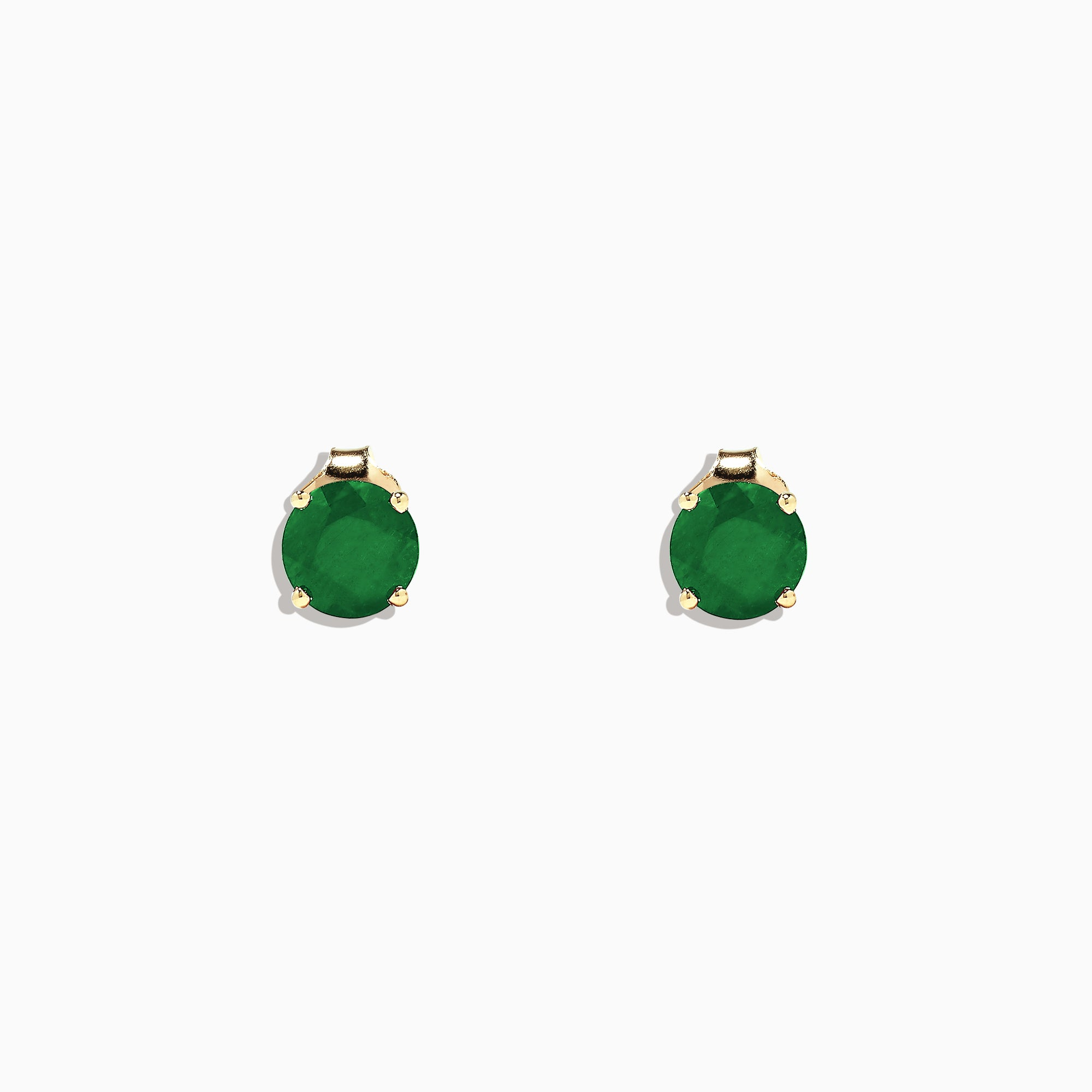 Effy Brasilica 14K Yellow Gold Emerald Stud Earrings, 1.62 TCW