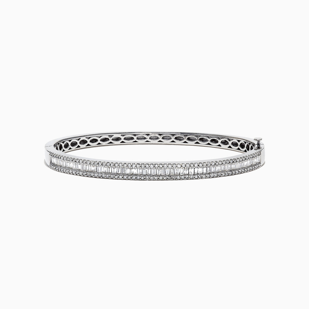 Effy Classique 14K White Gold Diamond Bangle, 1.81 TCW