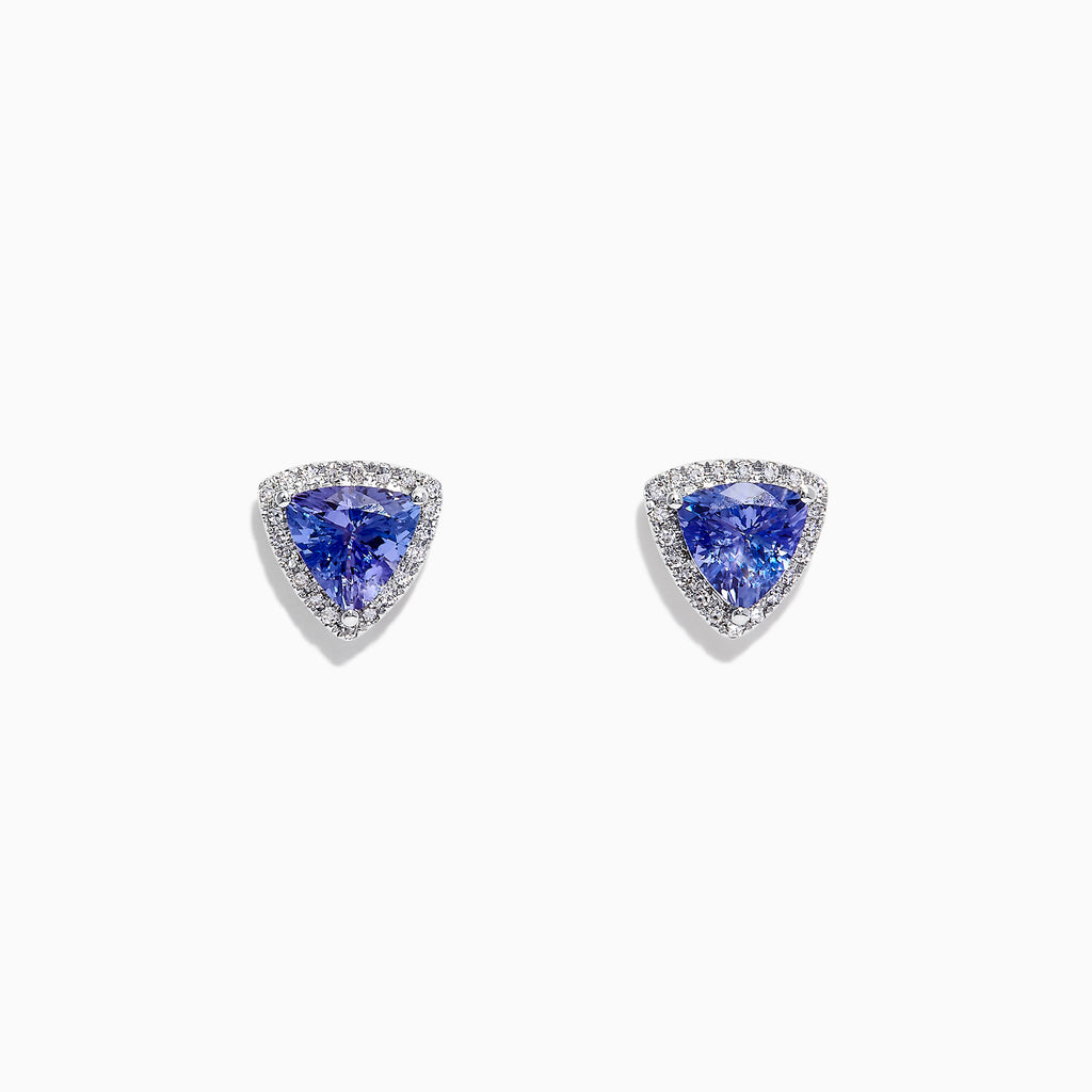 Effy Tanzanite Royale 14K Gold Tanzanite & Diamond Stud Earrings, 2.34 TCW