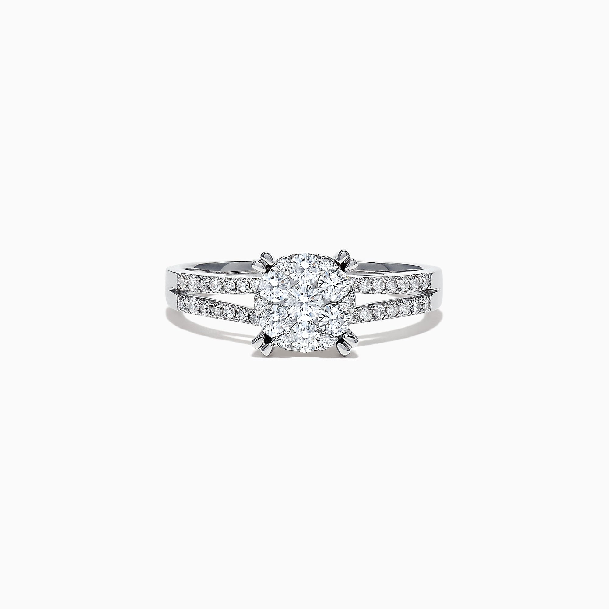 Effy Bouquet 14K White Gold Diamond Cluster Engagement Ring, 0.56 TCW