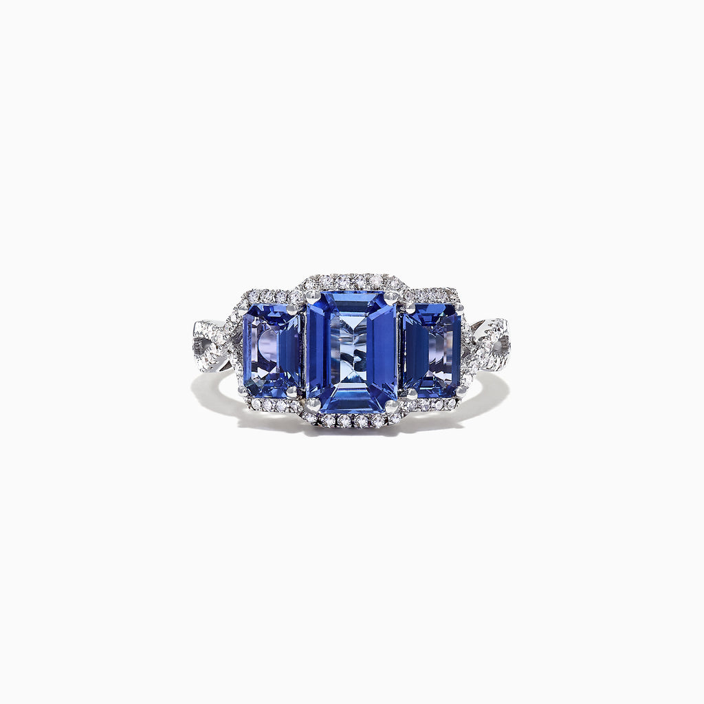 Effy Gemma 14K White Gold Tanzanite and Diamond Ring, 2.55 TCW