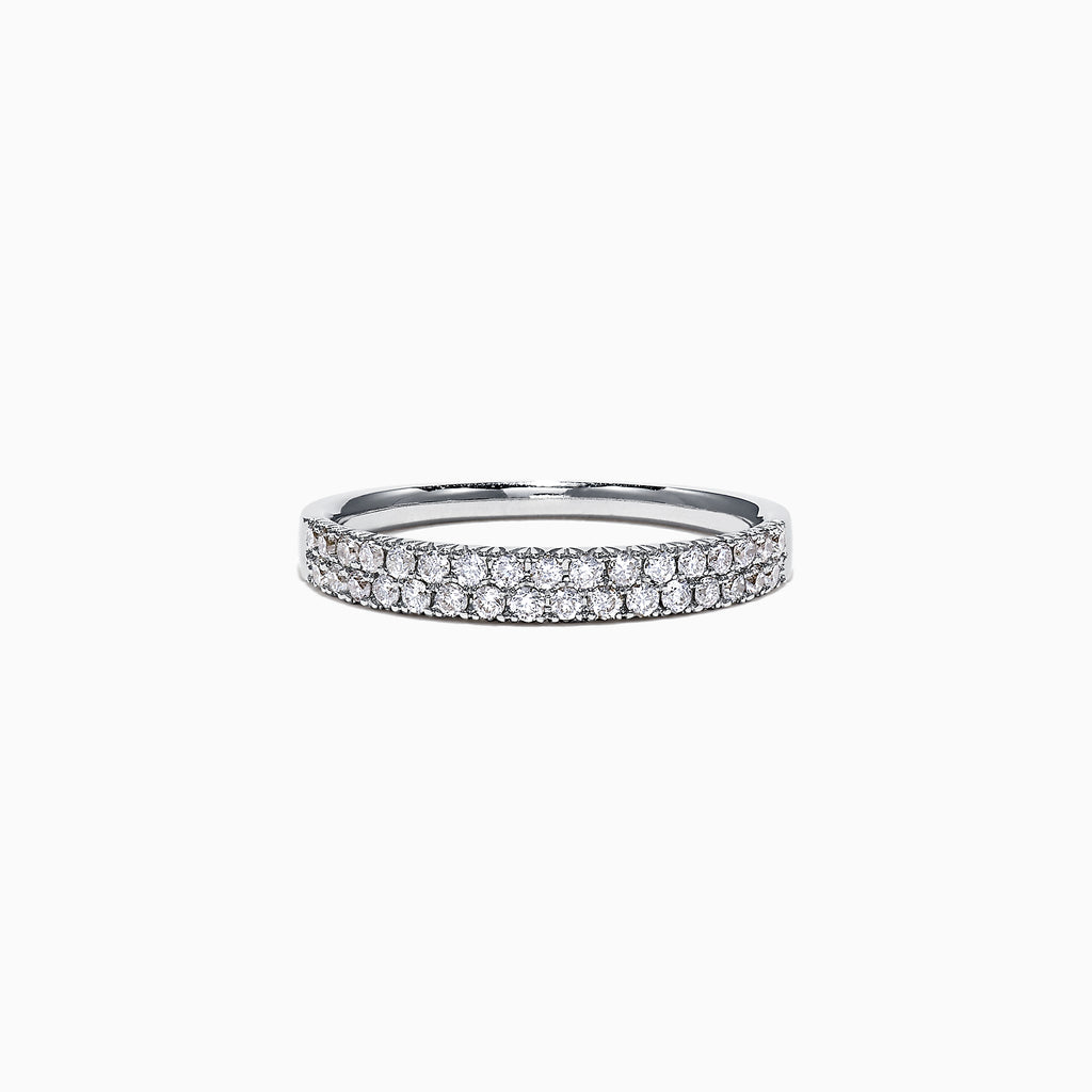 Effy Pave Classica 14K White Gold Diamond Ring, 0.37 TCW