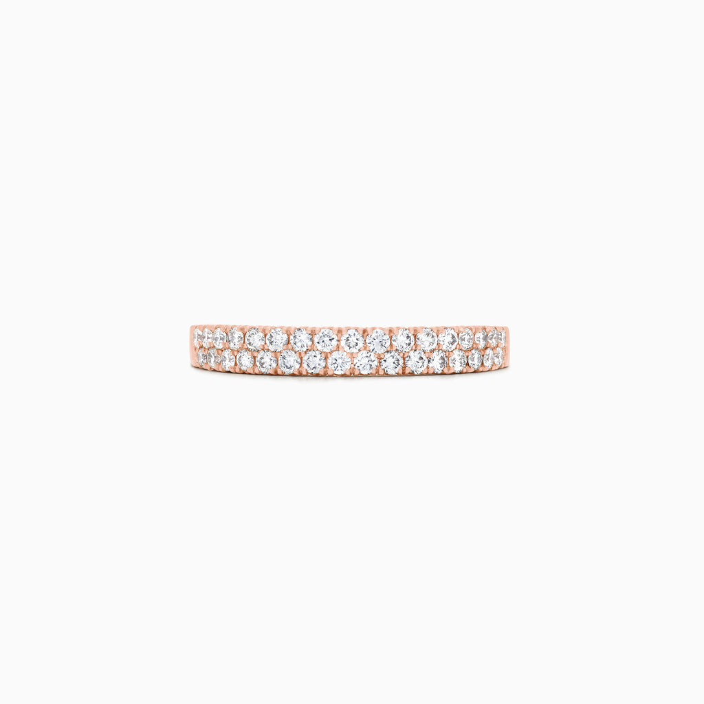 Effy Pave Rose 14K Rose Gold Diamond Ring, 0.37 TCW