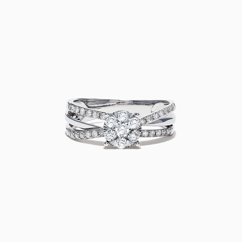 Effy Bouquet 14K White Gold Diamond Cluster Ring, 0.39 TCW