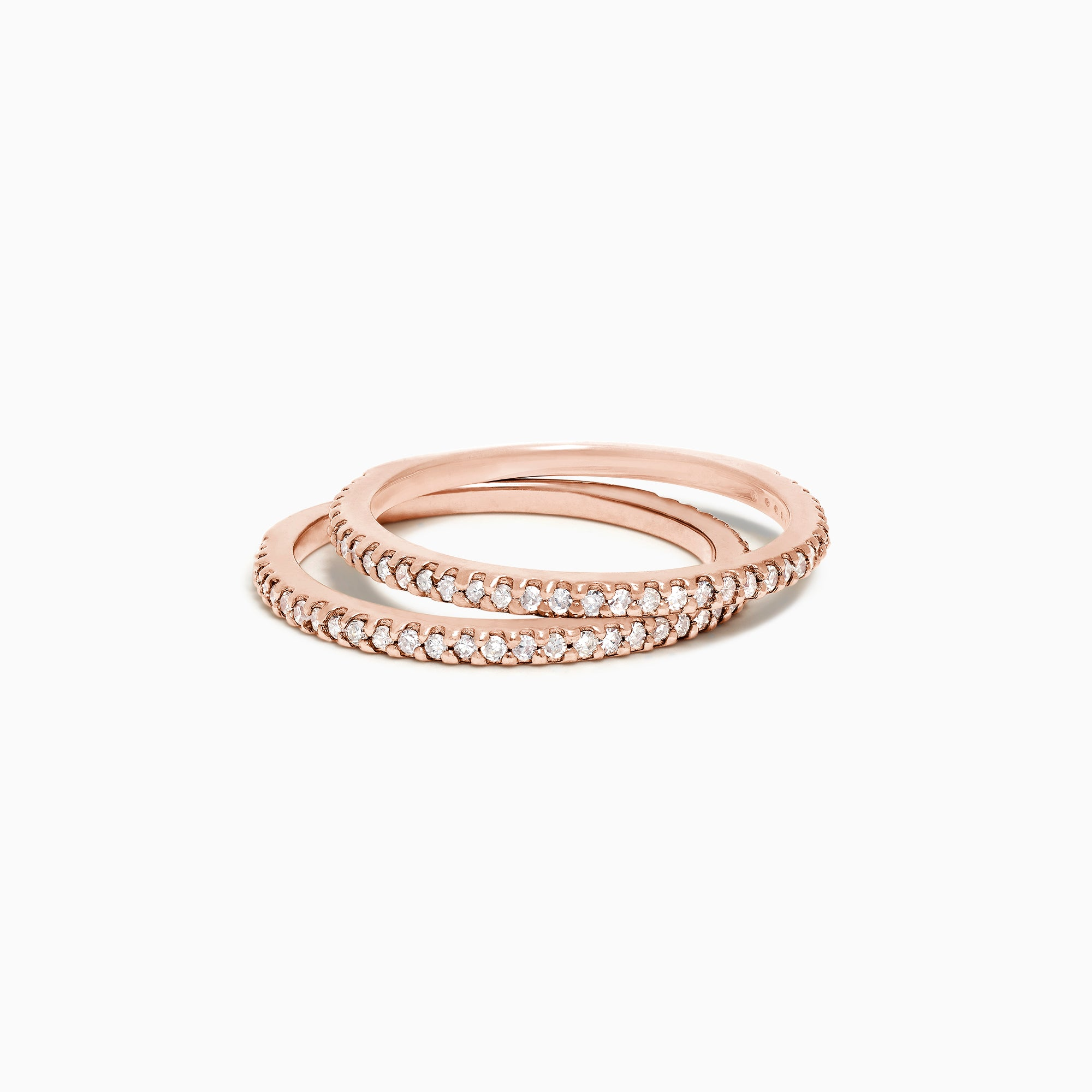 Effy 14K Rose Gold Diamond Double Band Ring, 0.36 TCW