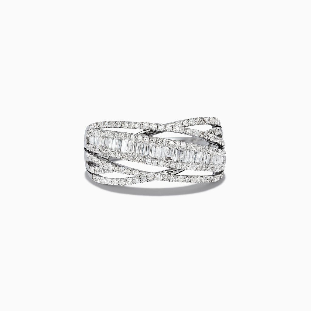 Effy Classique 14K White Gold Diamond Ring, 0.98 TCW