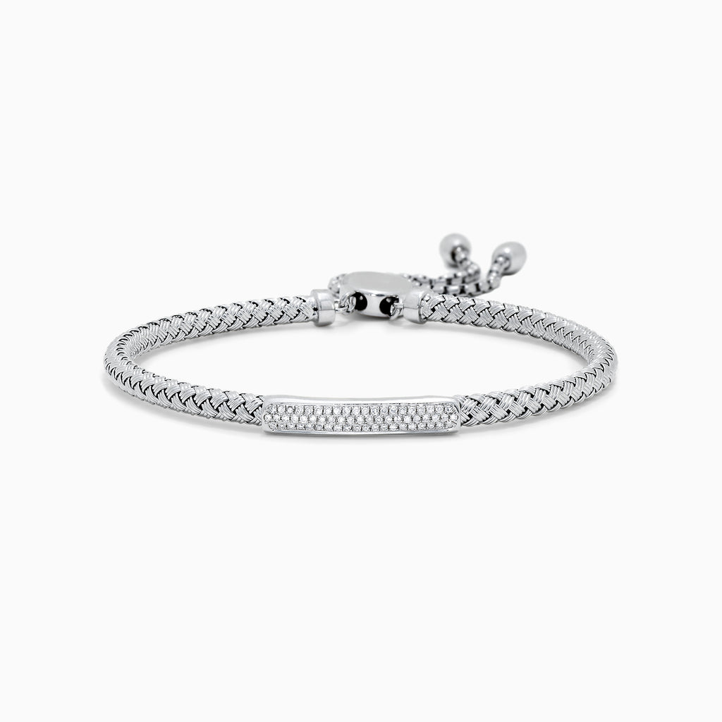 Effy 925 Sterling Silver Diamond Accented Bracelet, 0.17 TCW