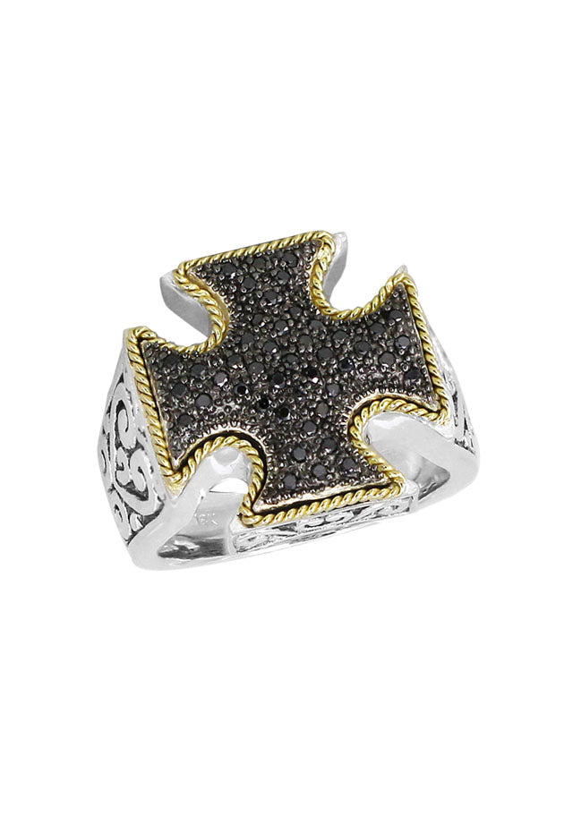 Balissima Black Diamond Ring, .23 TCW