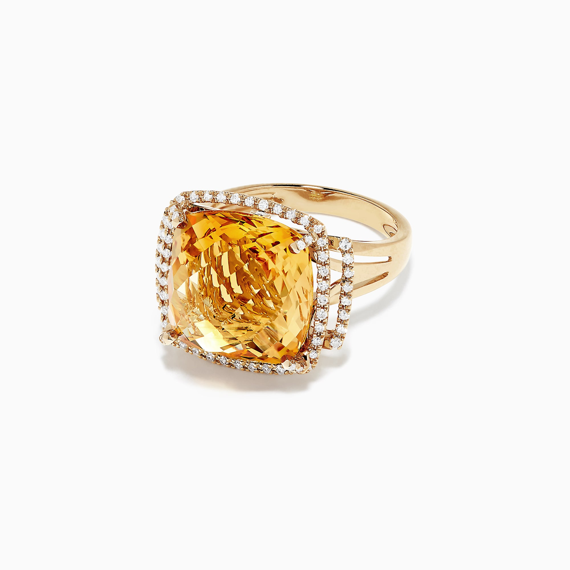 Effy Sunset 14K Yellow Gold Citrine and Diamond Ring, 10.04 TCW