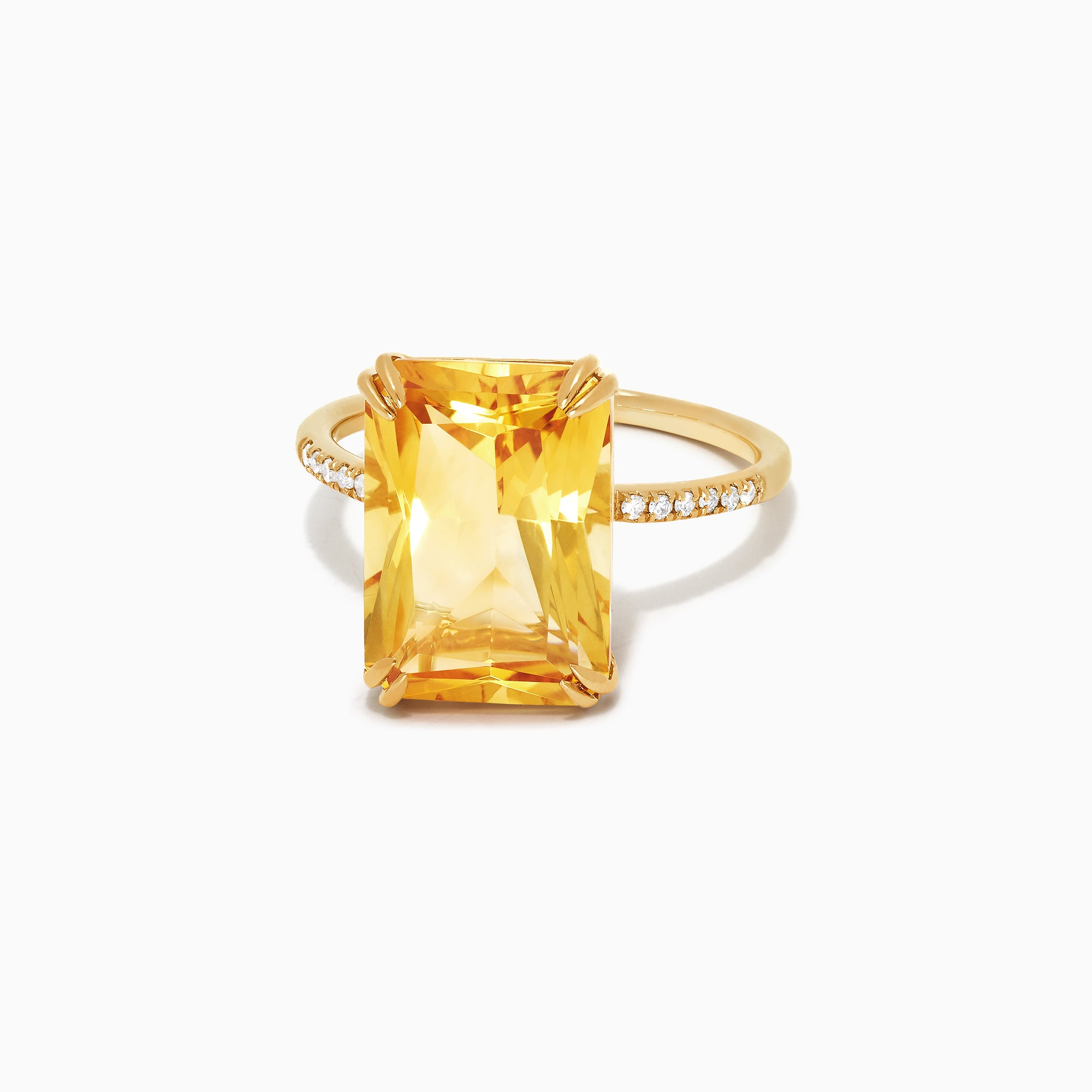 Effy Sunset 14K Yellow Gold Citrine and Diamond Ring, 6.72 TCW