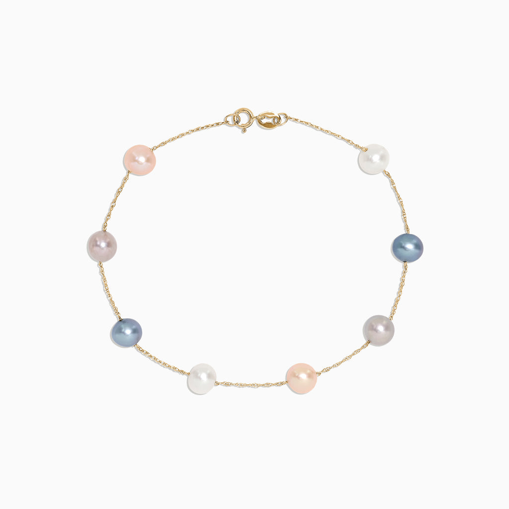 Effy 14K Yellow Gold Multi Color Cultured Pearl Bracelet