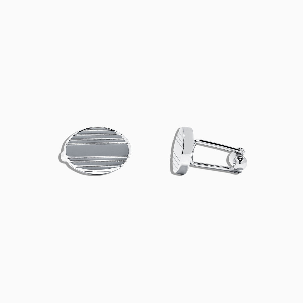 Effy Men's 925 Sterling Silver Oval Cufflinks