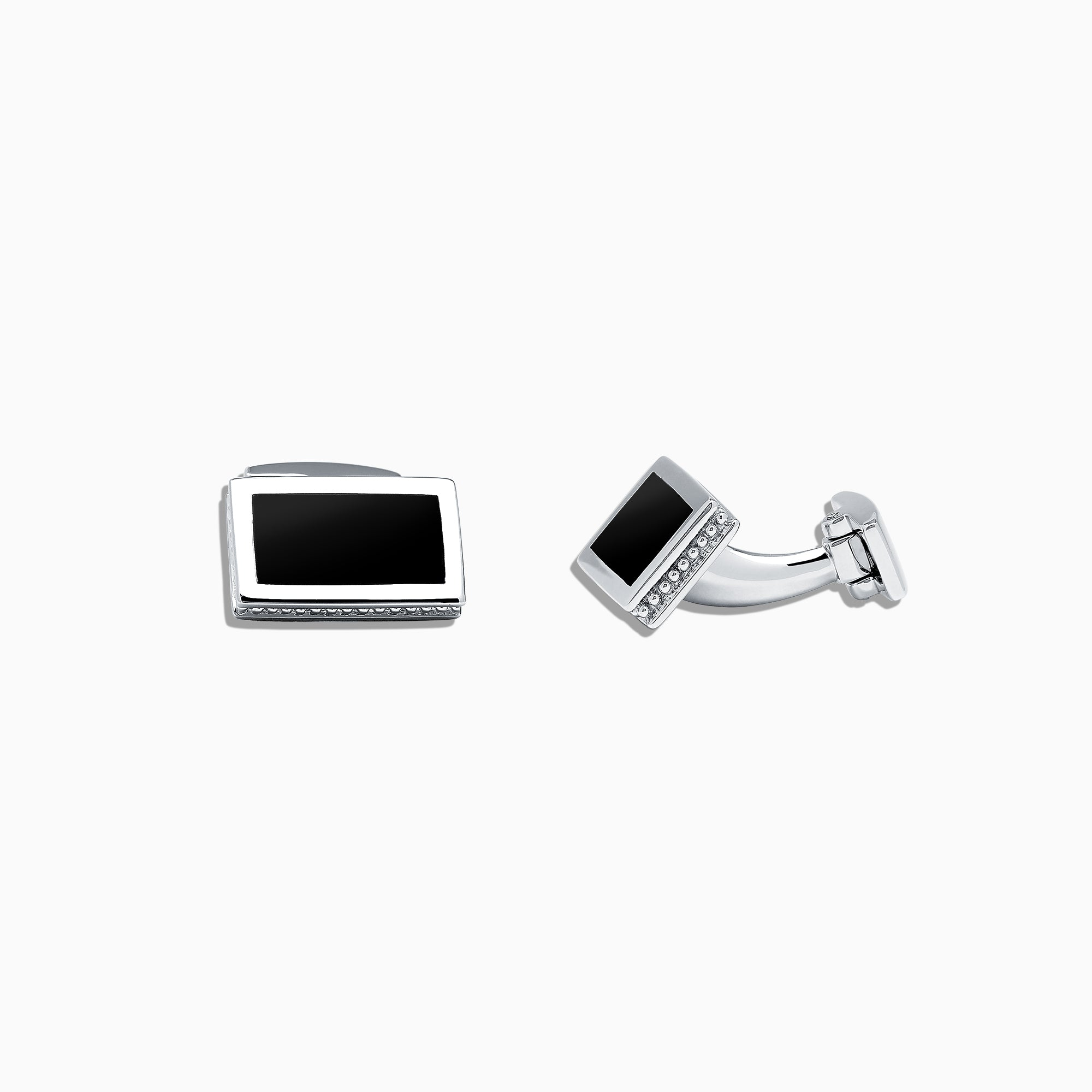 Effy Men's Sterling Silver and Black Agate Cufflinks, 8.00 TCW