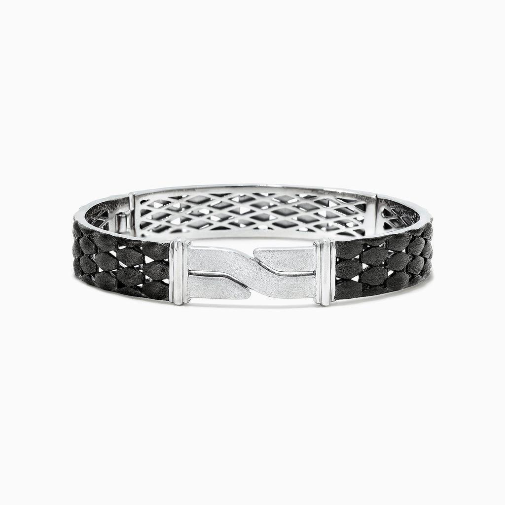 Effy Men's Sterling Silver Black Rhodium Finish Bangle