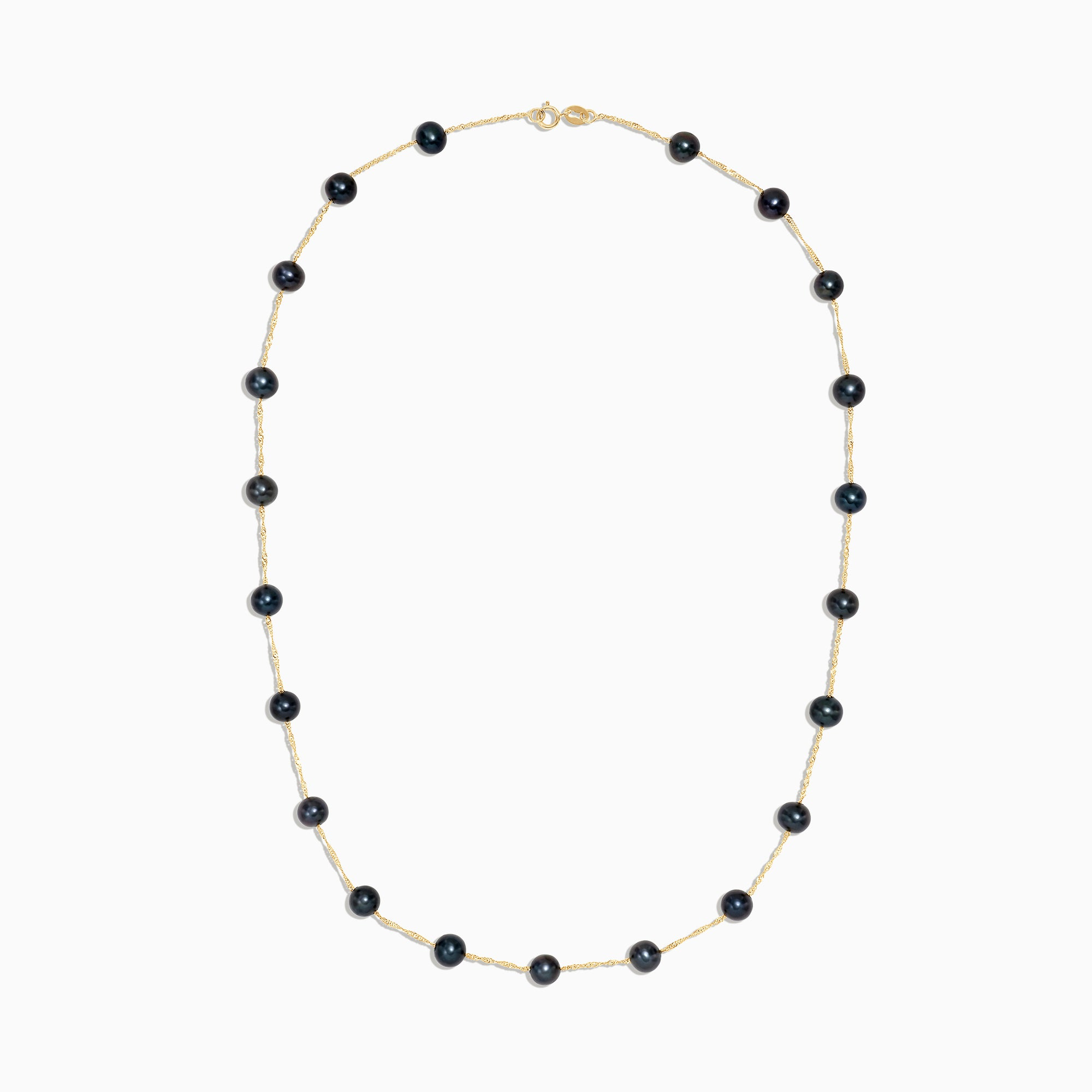 Effy 14K Yellow Gold Cultured Pearl Station Necklace