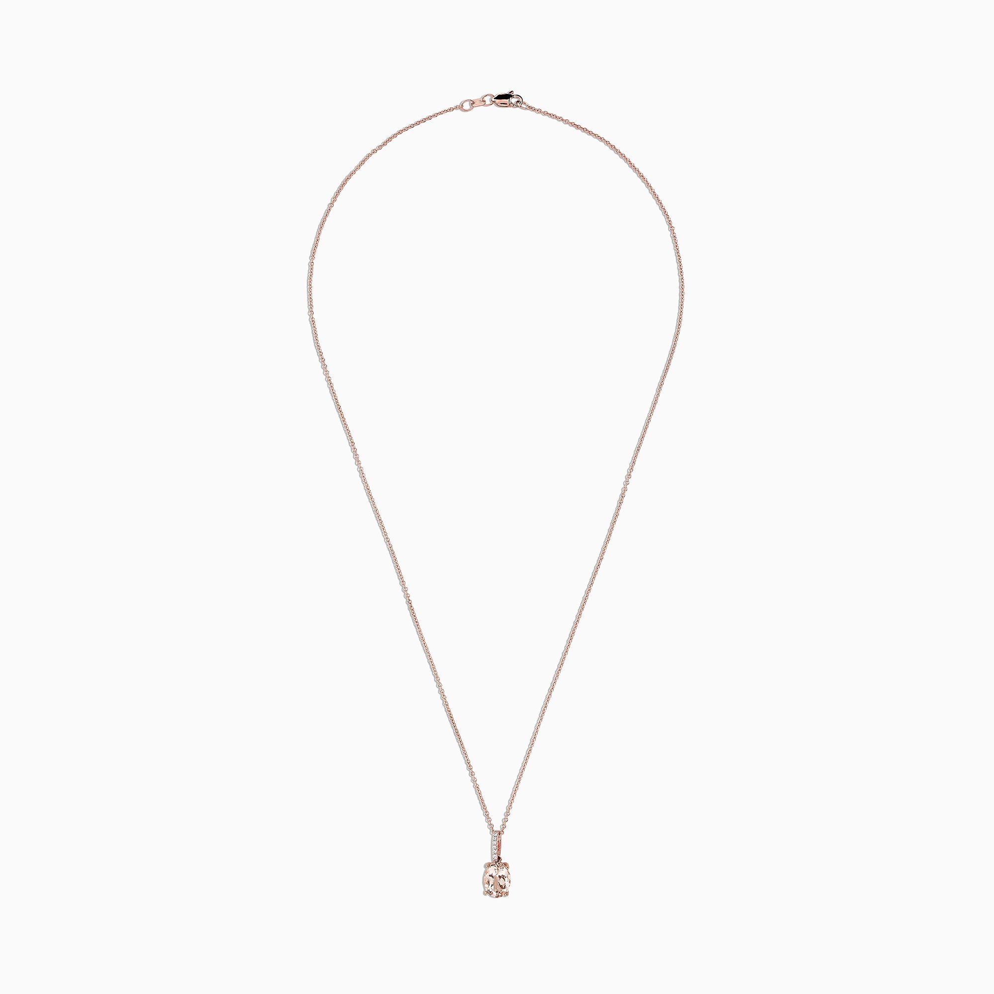 Effy Blush 14K Rose Gold Morganite and Diamond Pendant, 1.74 TCW