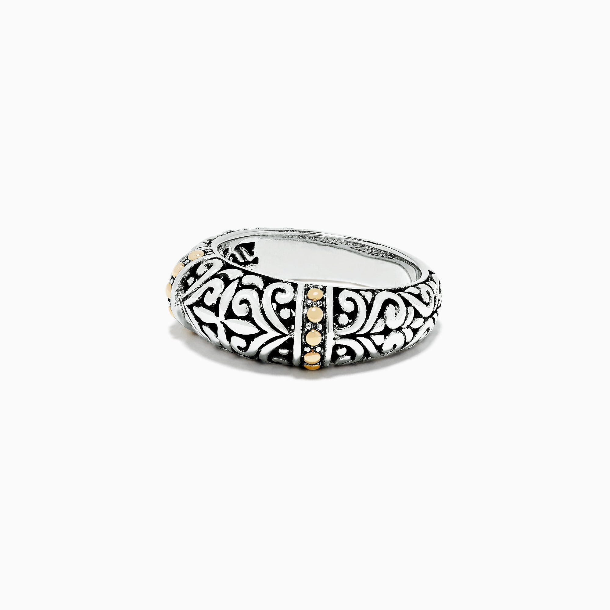 Effy 925 Sterling Silver and 18K Gold Ring