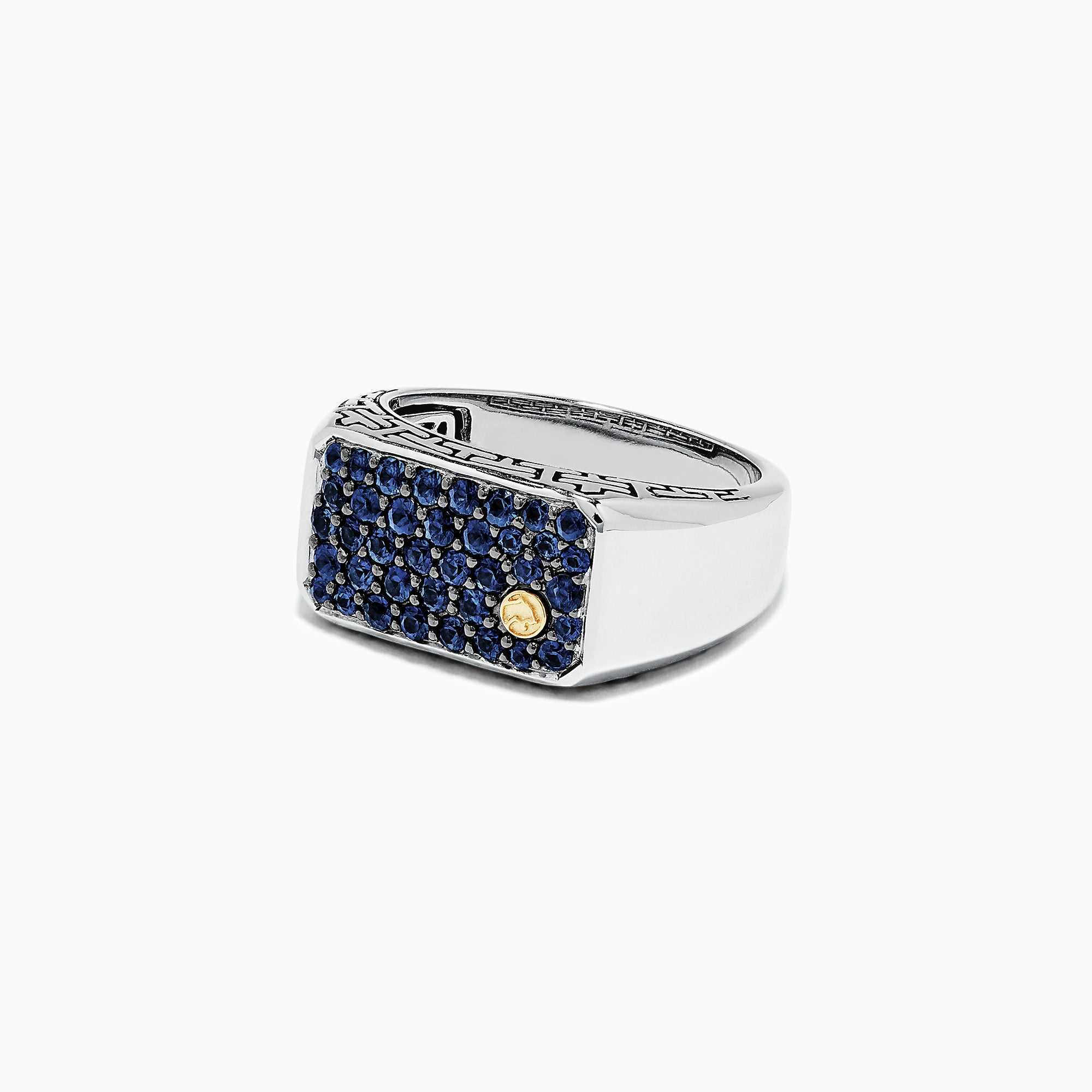 Effy Men's Sterling Silver and Blue Sapphire Ring, 1.35 TCW