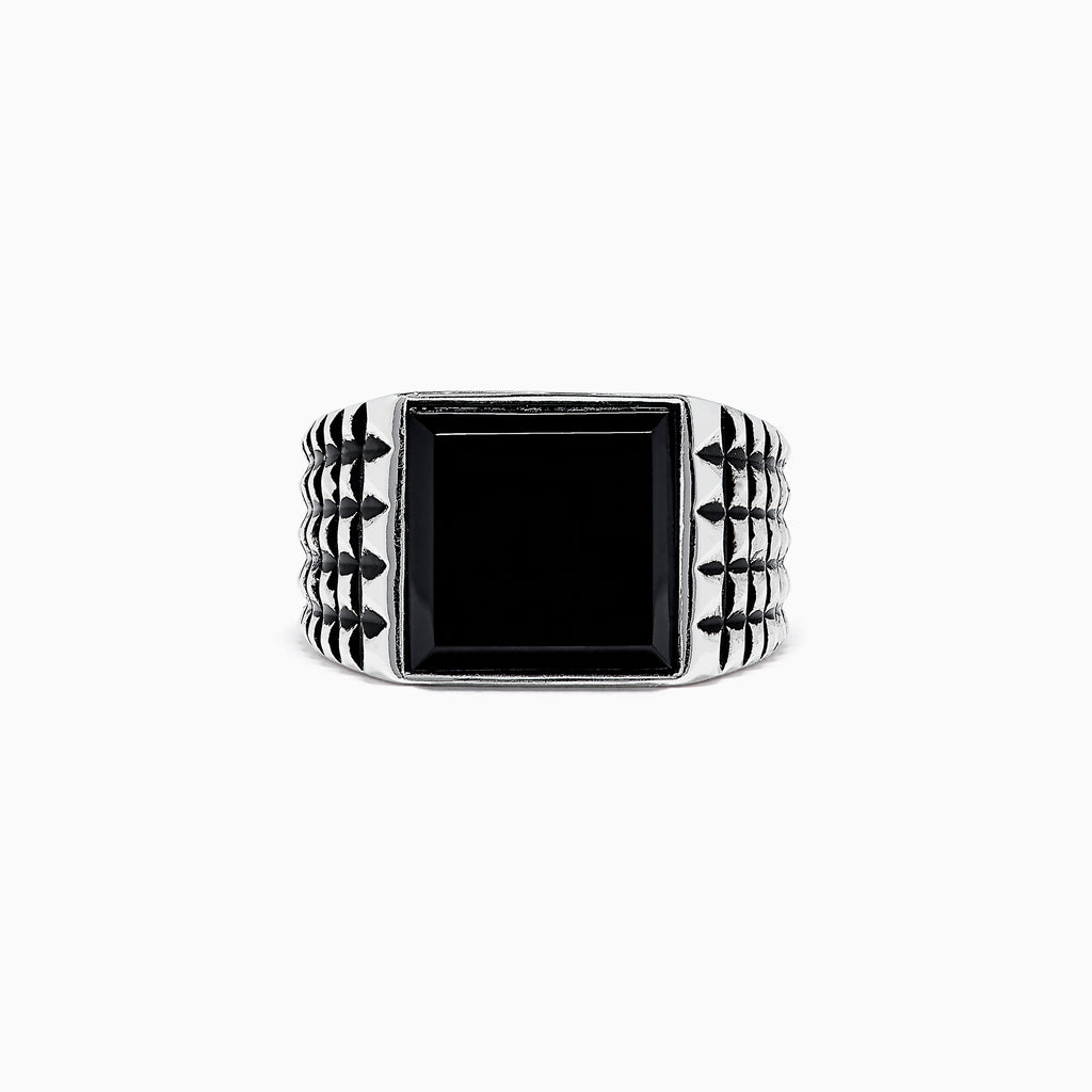 Effy Men's Sterling Silver and Onyx Ring, 5.40 TCW