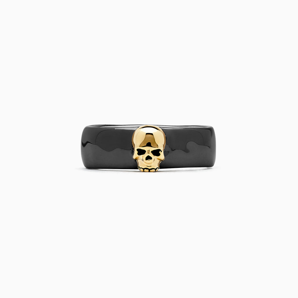 Effy Men's Sterling Silver Black Rhodium Plated Skull Ring