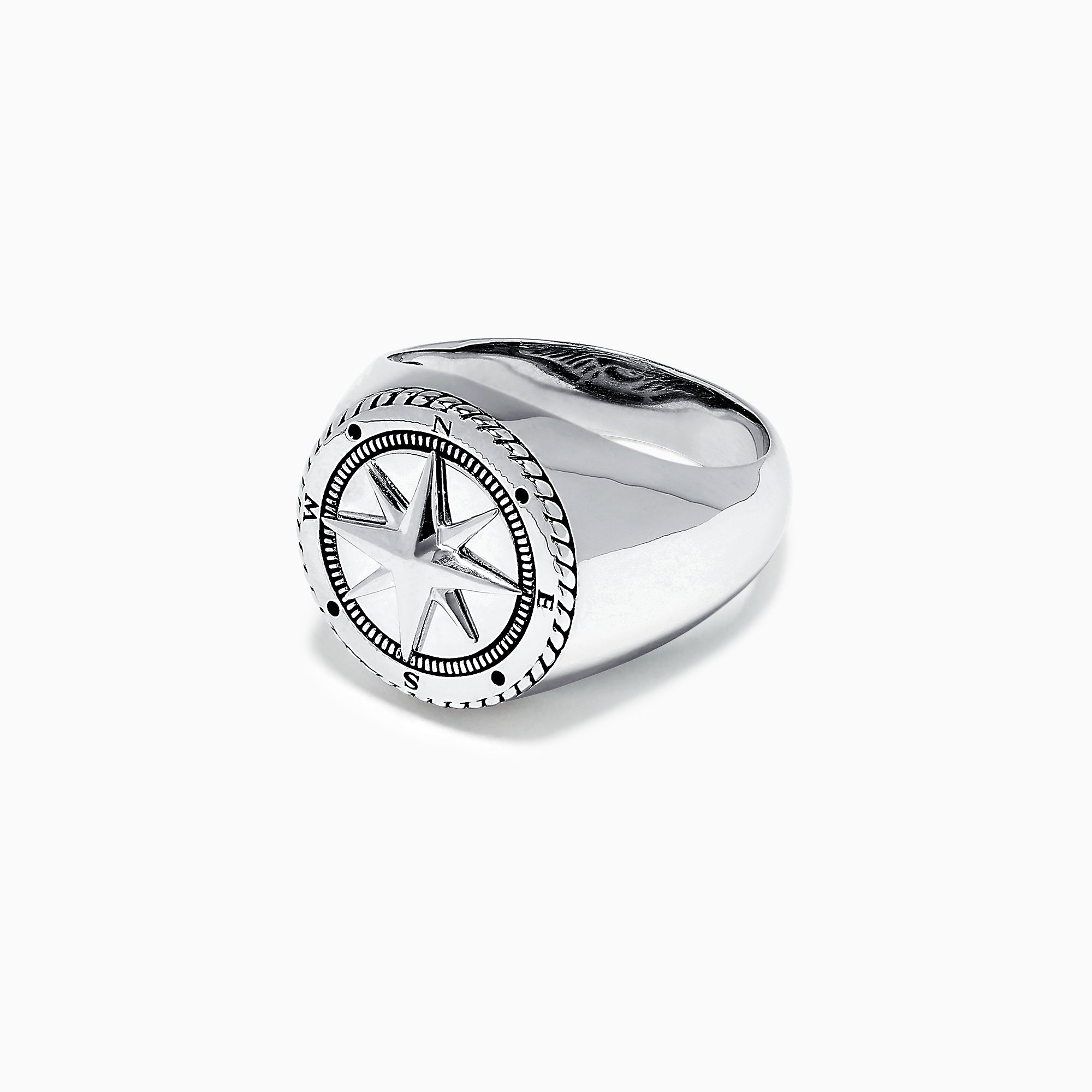 Effy Men's Sterling Silver Compass Ring