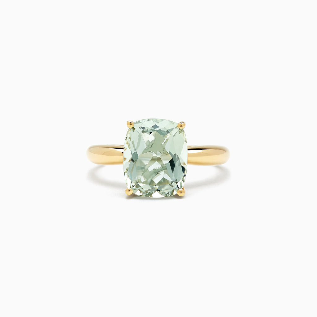 Effy 14K Yellow Gold Green Amethyst Ring, 3.95 TCW