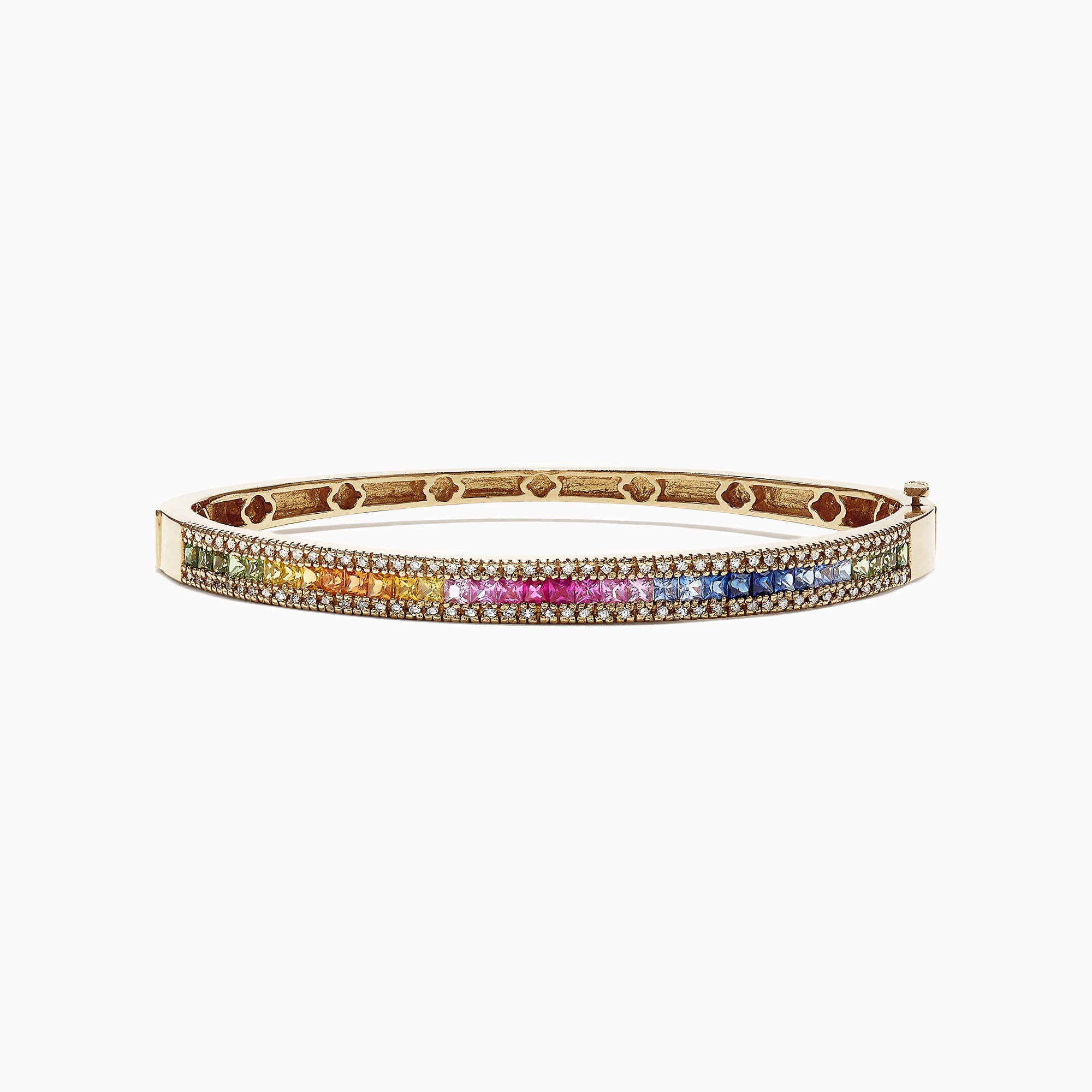 Effy Watercolors 14K Yellow Gold Multi Sapphire & Diamond Bangle, 3.60 TCW
