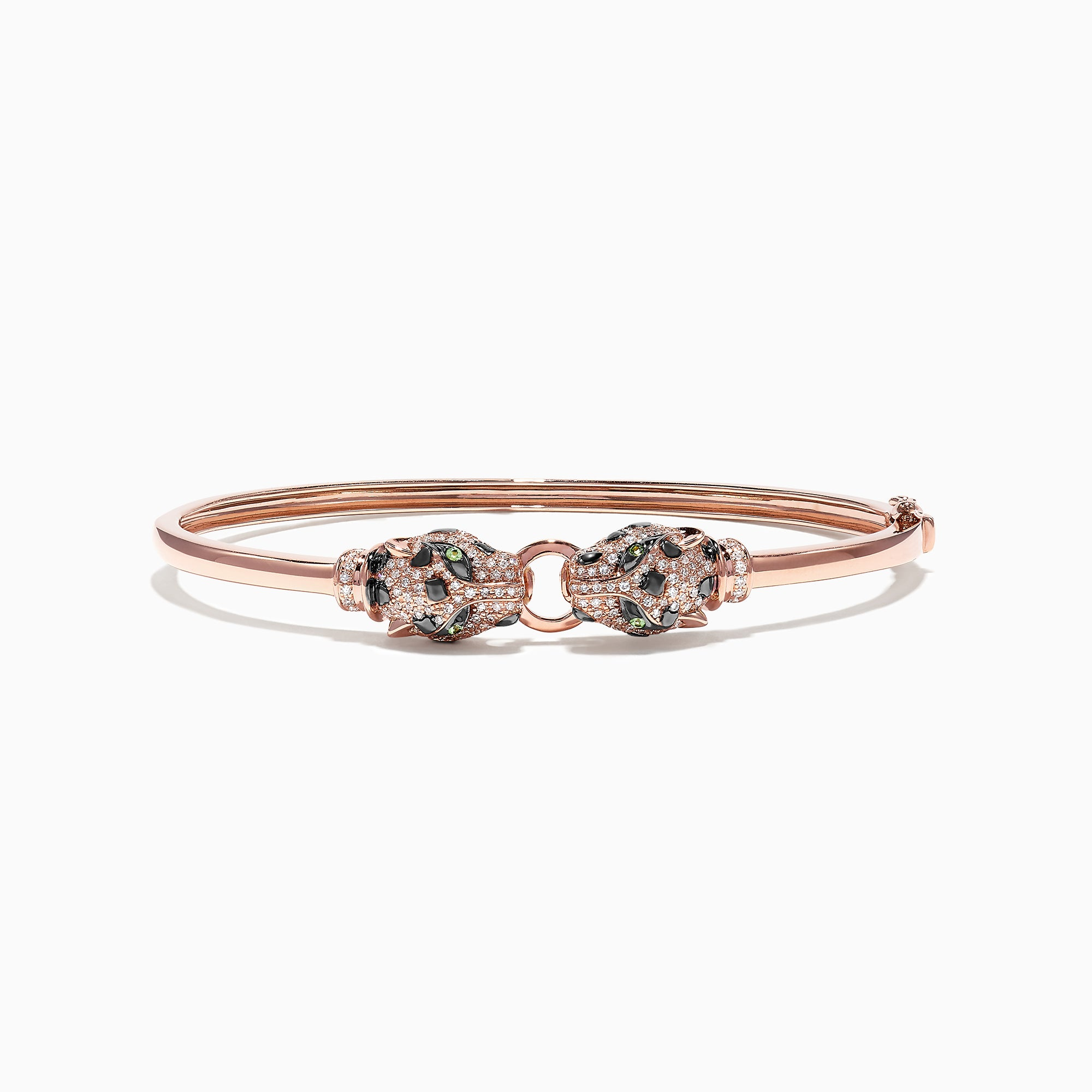 Effy Signature 14K Rose Gold Diamond and Tsavorite Bangle, 0.79 TCW