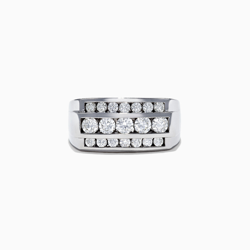 Effy Men's 14K White Gold Diamond Ring, 1.67 TCW