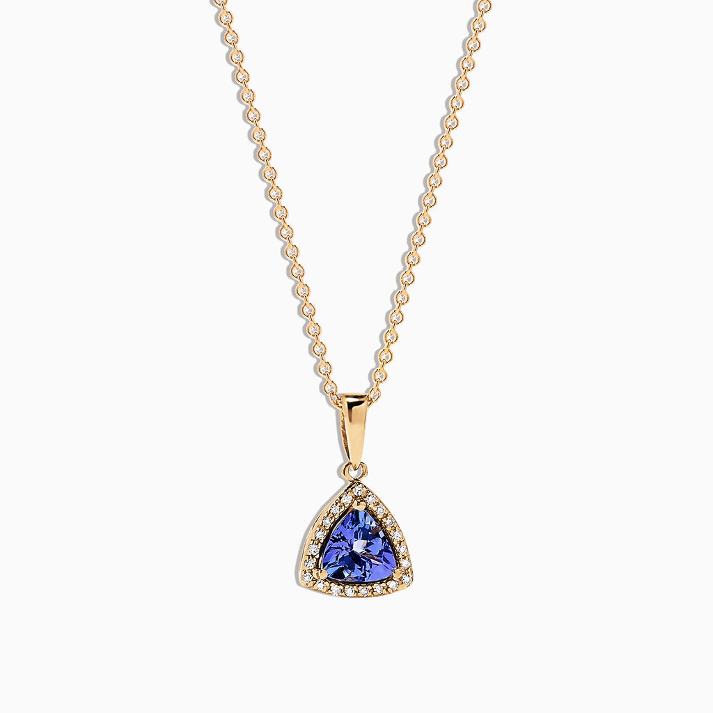 Effy Tanzanite Royale 14K Yellow Gold Tanzanite & Diamond Pendant, 0.72 TCW