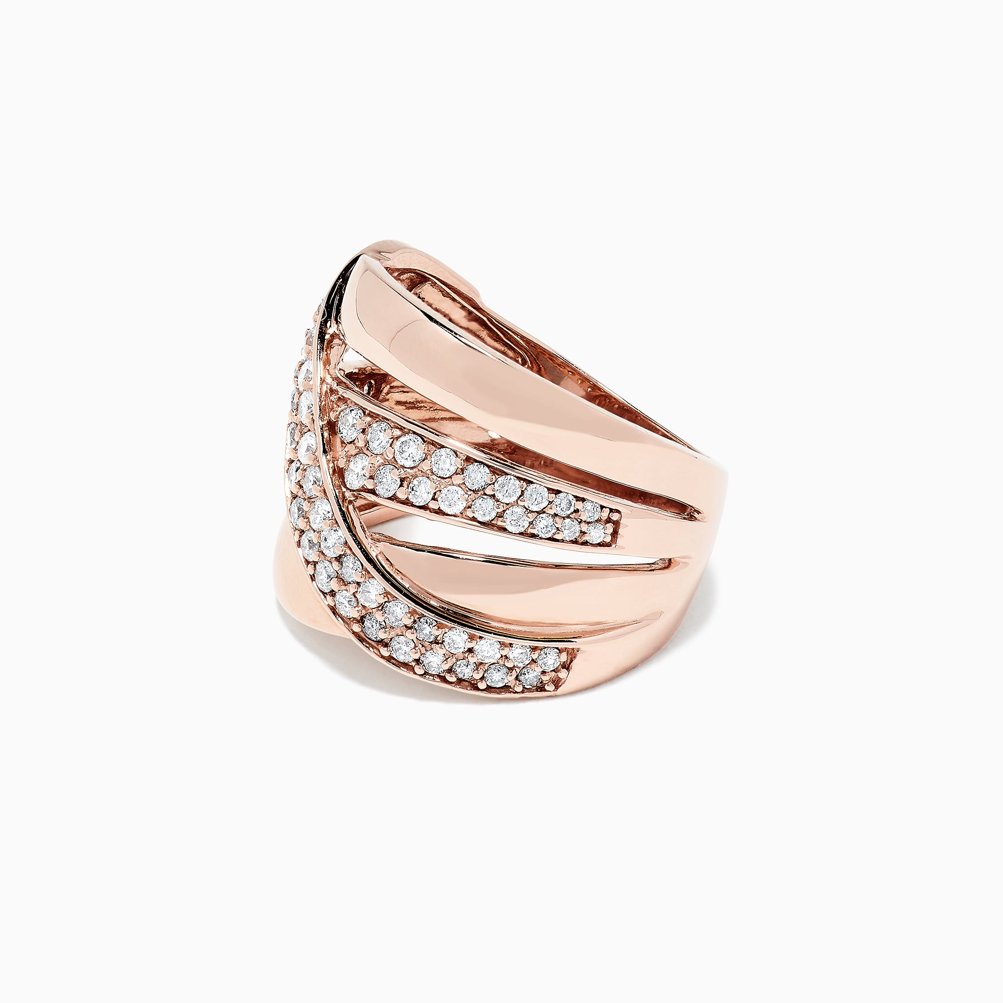 Effy Pave Classica 14K Rose Gold Diamond Ring, 0.93 TCW