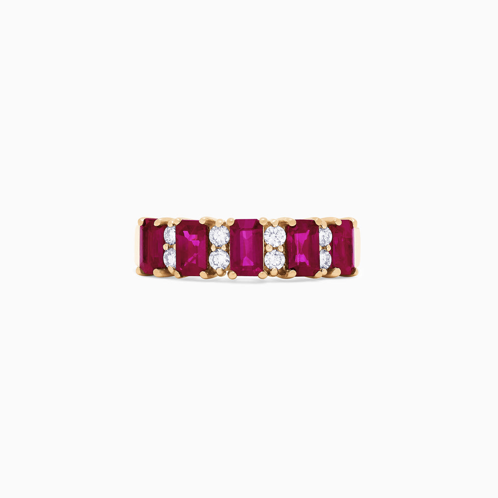 Effy Ruby Royale 14K Yellow Gold Ruby and Diamond Ring, 2.10 TCW
