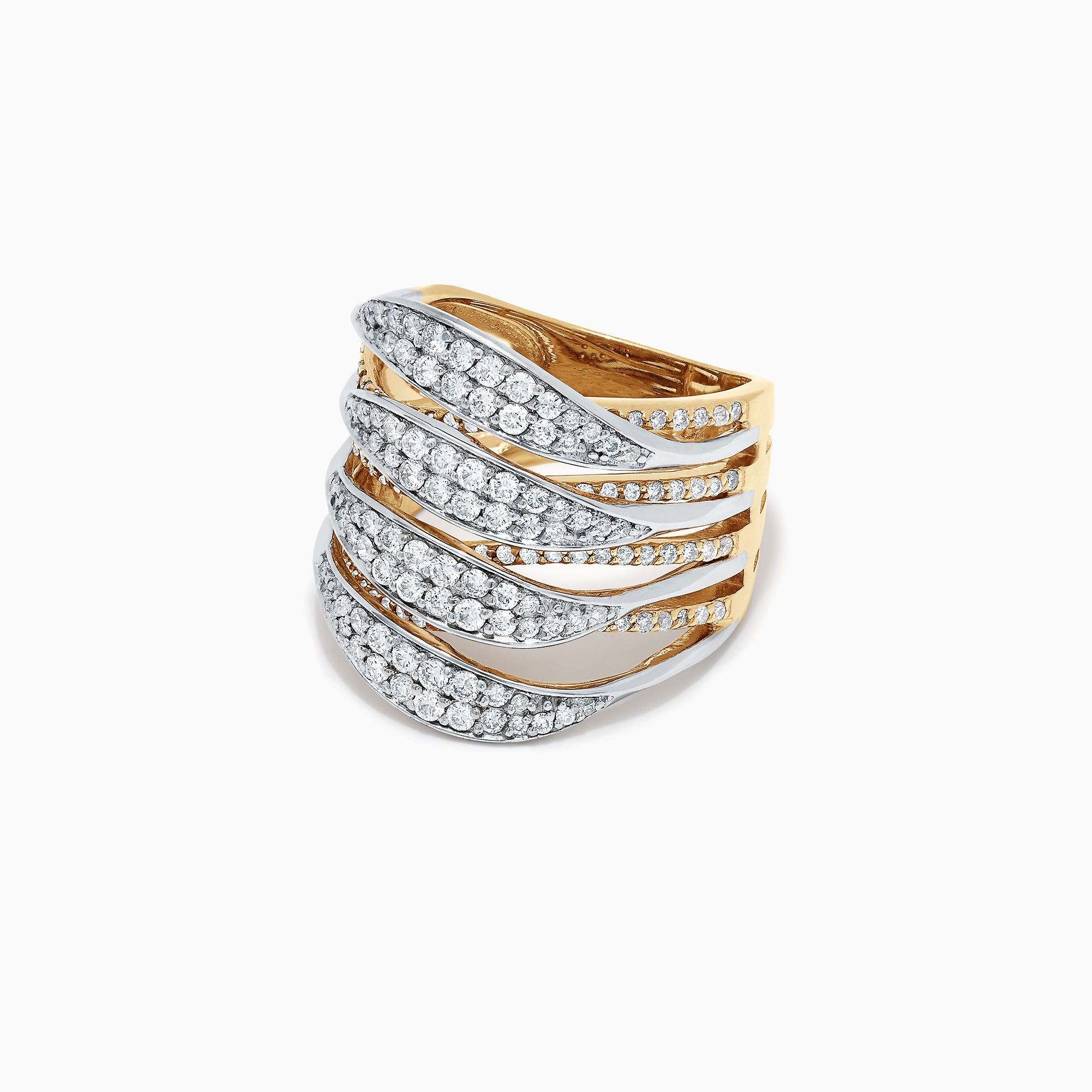 Effy Duo 14K Yellow and White Gold Diamond Ring, 1.31 TCW