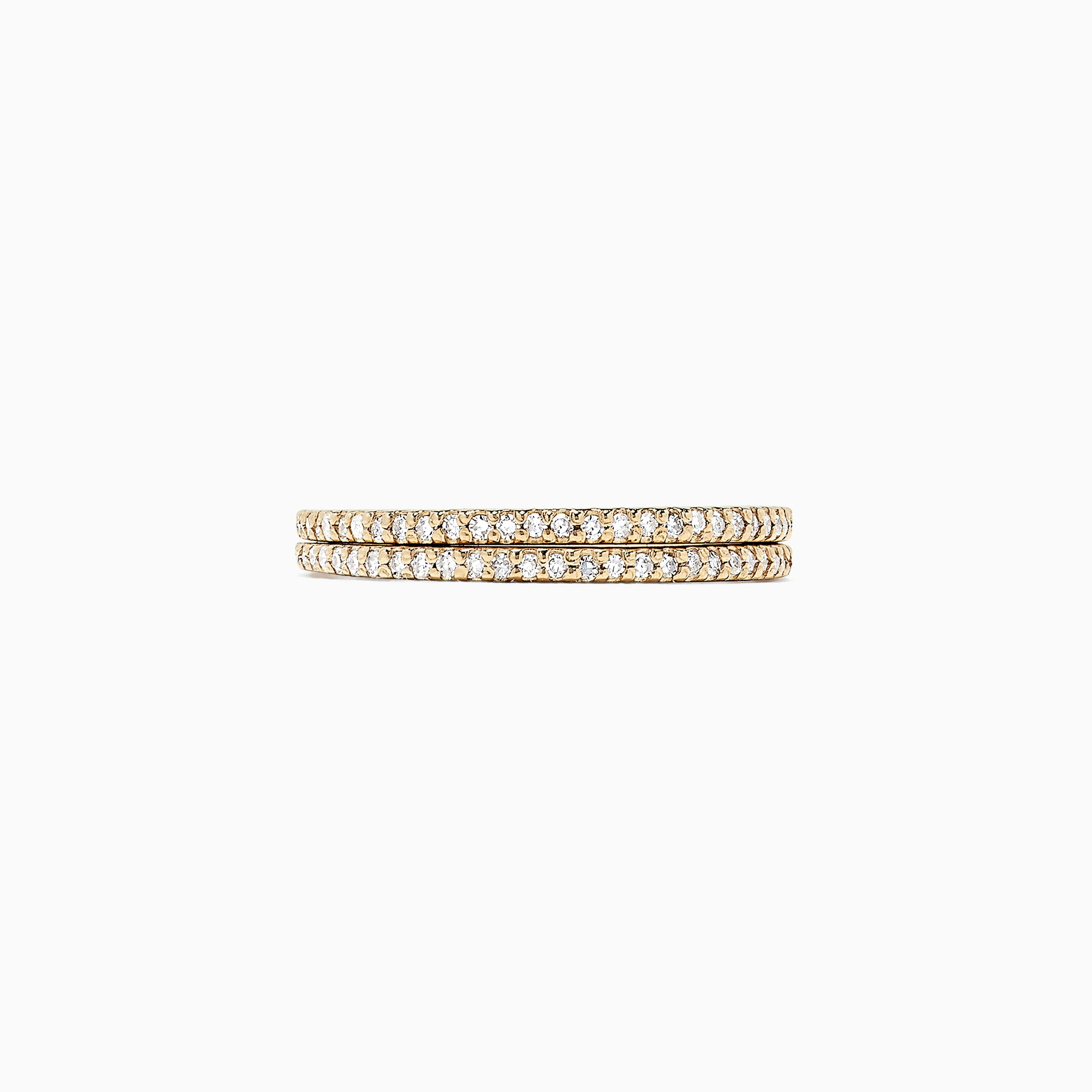 Effy D'Oro 14K Yellow Gold Diamond Double Band Ring, 0.36 TCW