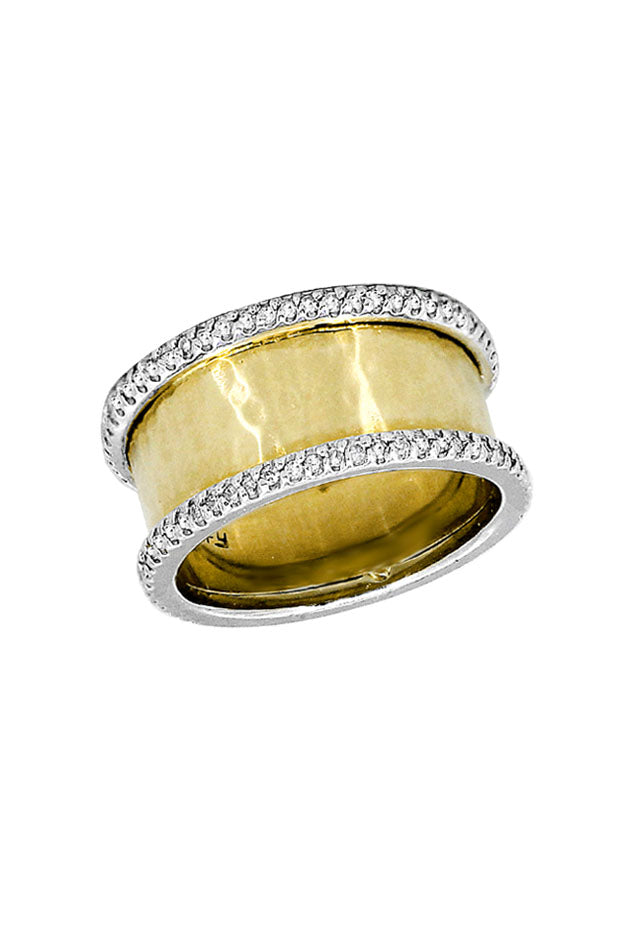 Effy D'Oro 14K Yellow and White Gold Diamond Ring, 0.36 TCW