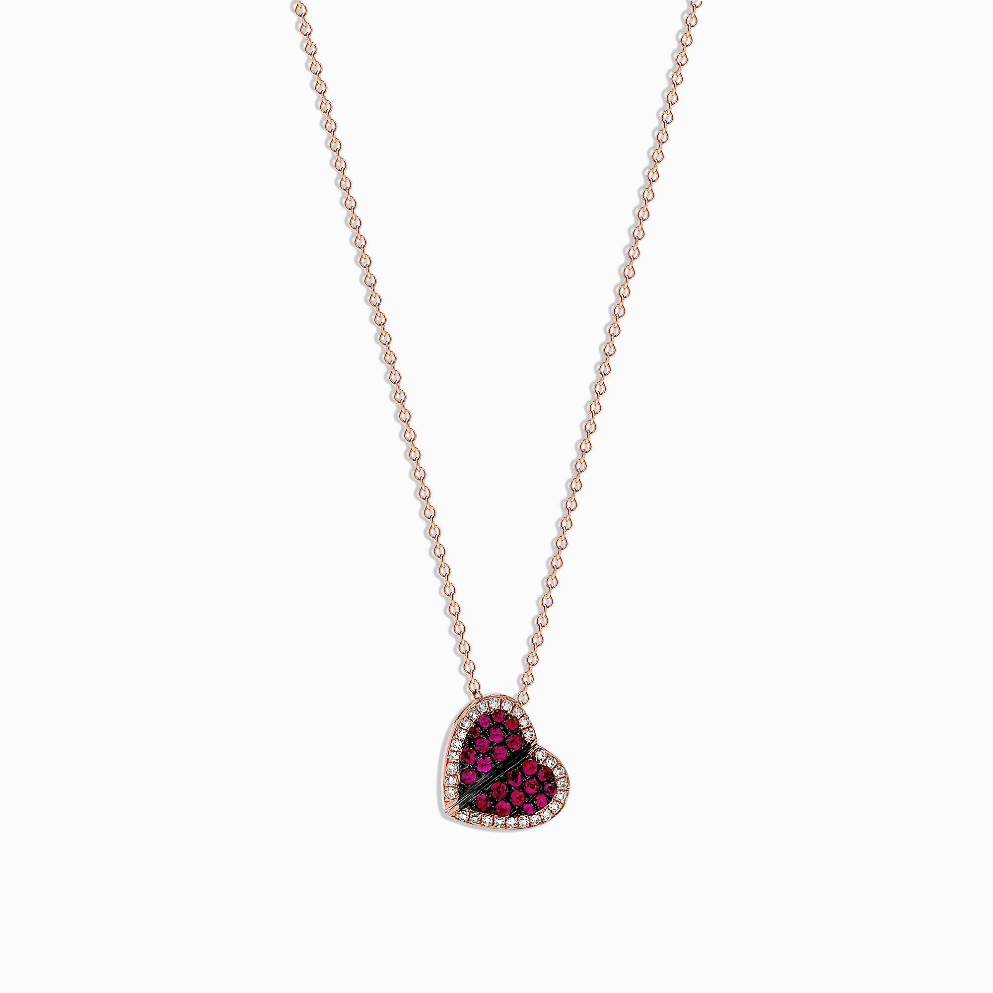 Effy Diversa 14K Rose Gold Ruby and Diamond Pendant, 0.47 TCW
