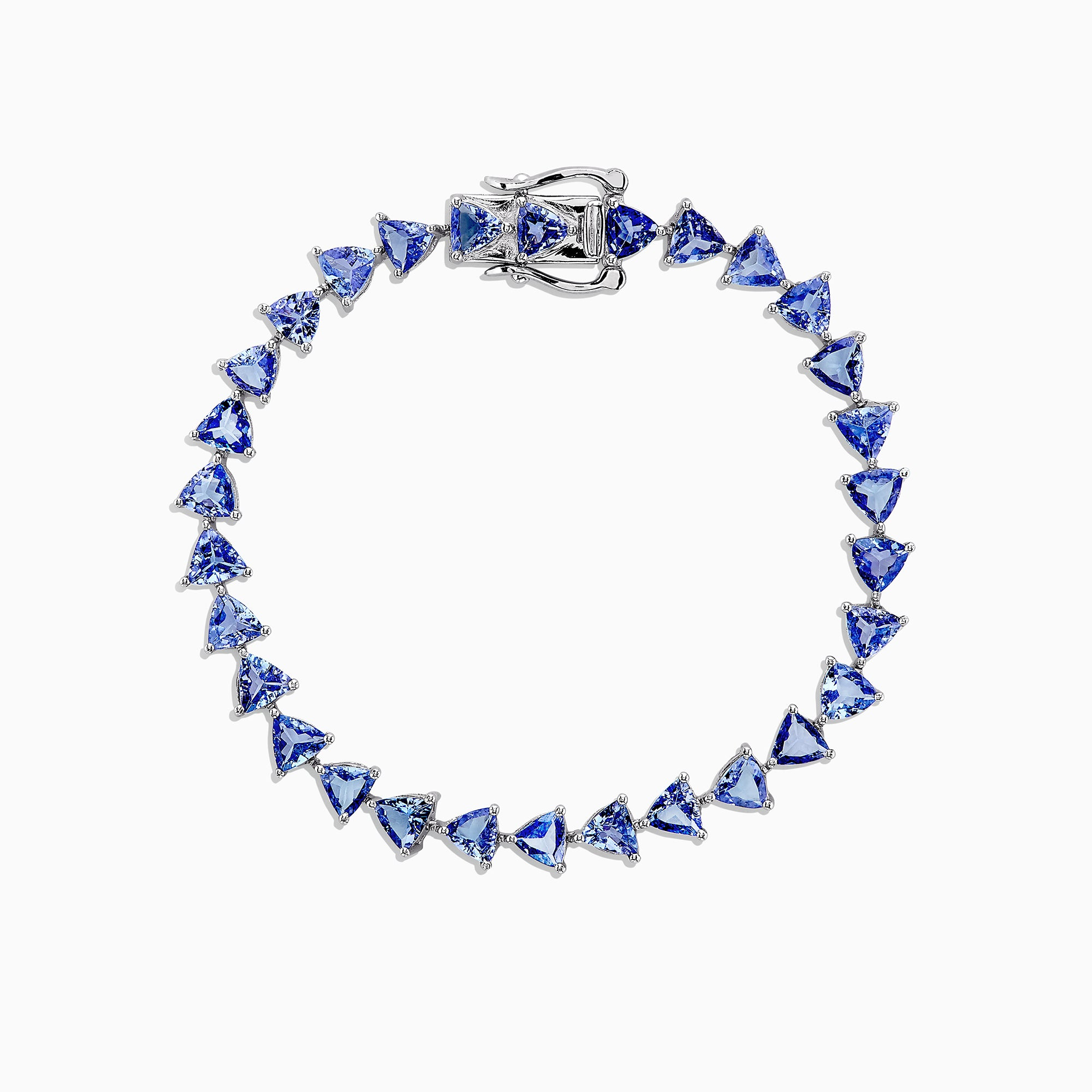 Effy Tanzanite Royale Sterling Silver Tanzanite Tennis Bracelet, 11.40 TCW