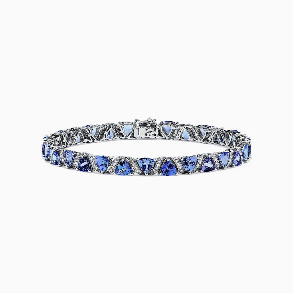 Effy Tanzanite Royale 14K Gold Tanzanite & Diamond Bracelet, 12.10 TCW