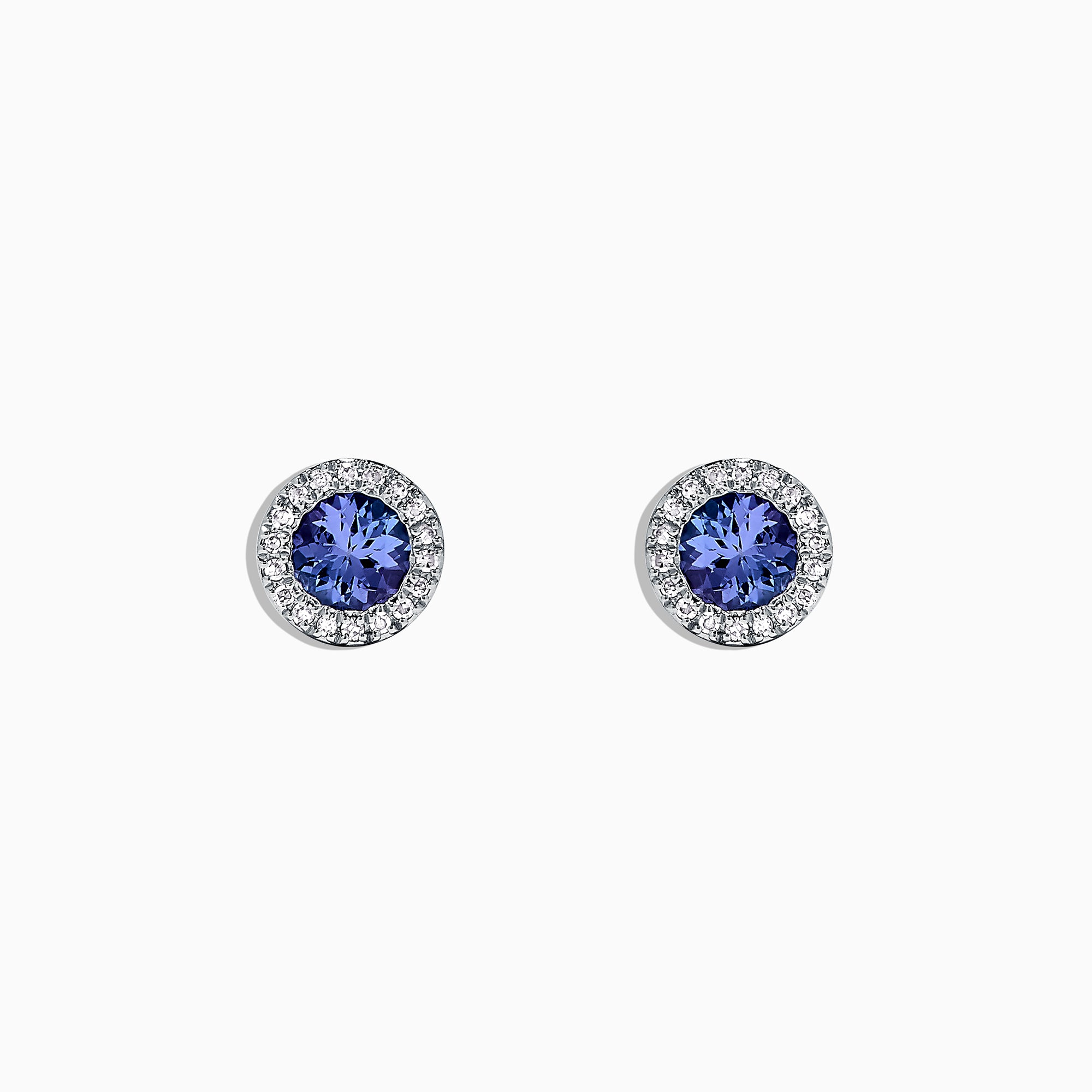 Effy Tanzanite Royale 14K White Gold Tanzanite & Diamond Earrings, 0.88 TCW