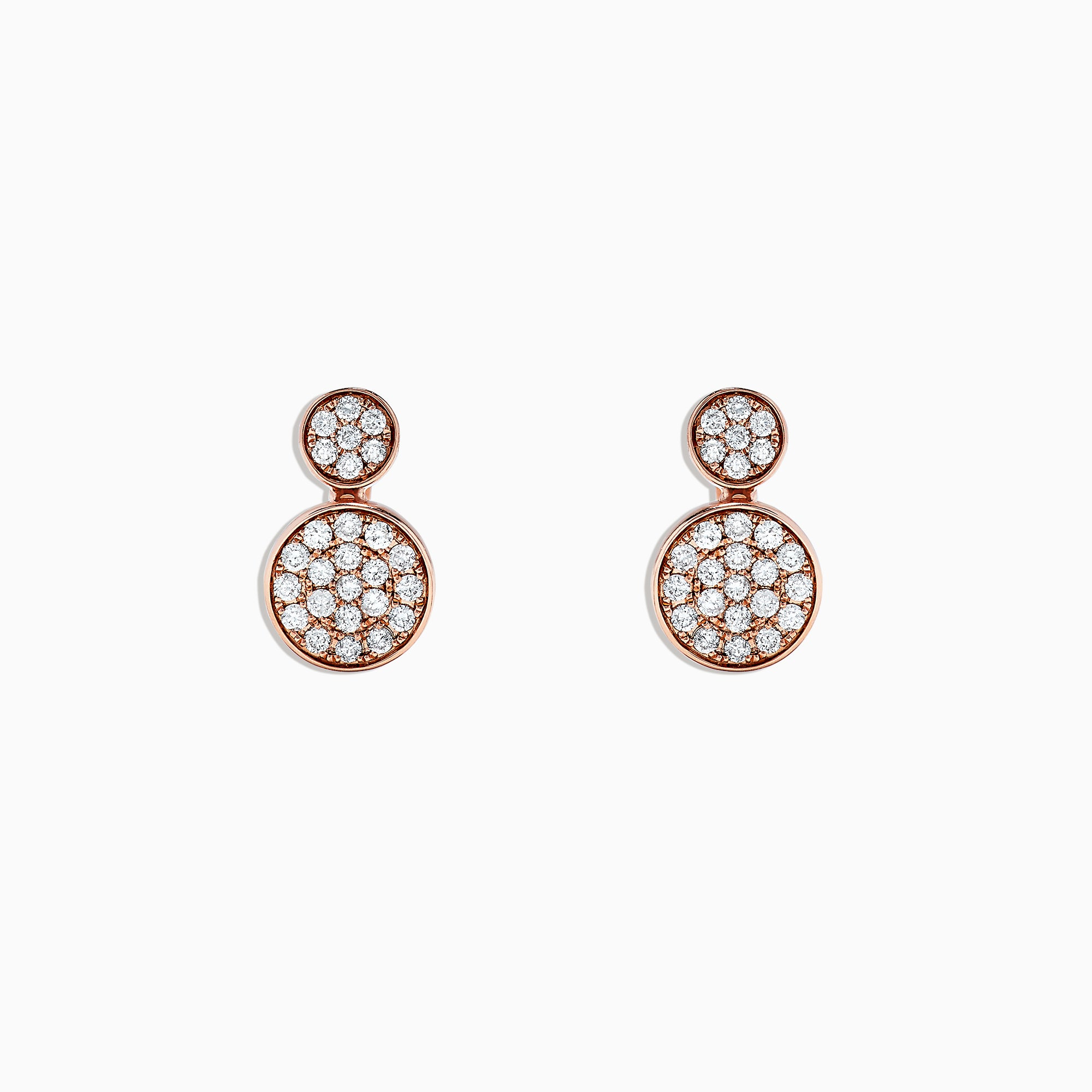 Effy 14K Rose Gold Diamond Pave Earrings, 0.73 TCW