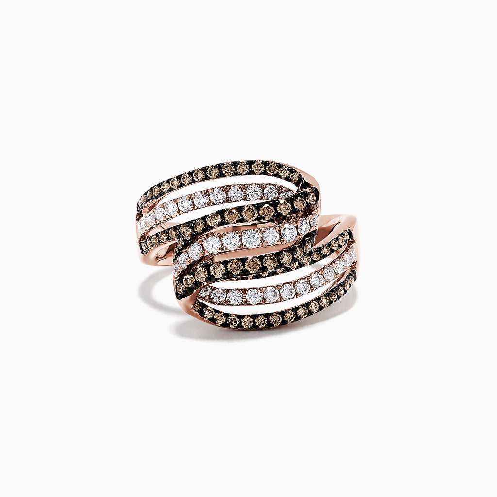 Effy Espresso 14K Rose Gold Diamond Ring, 0.96 TCW