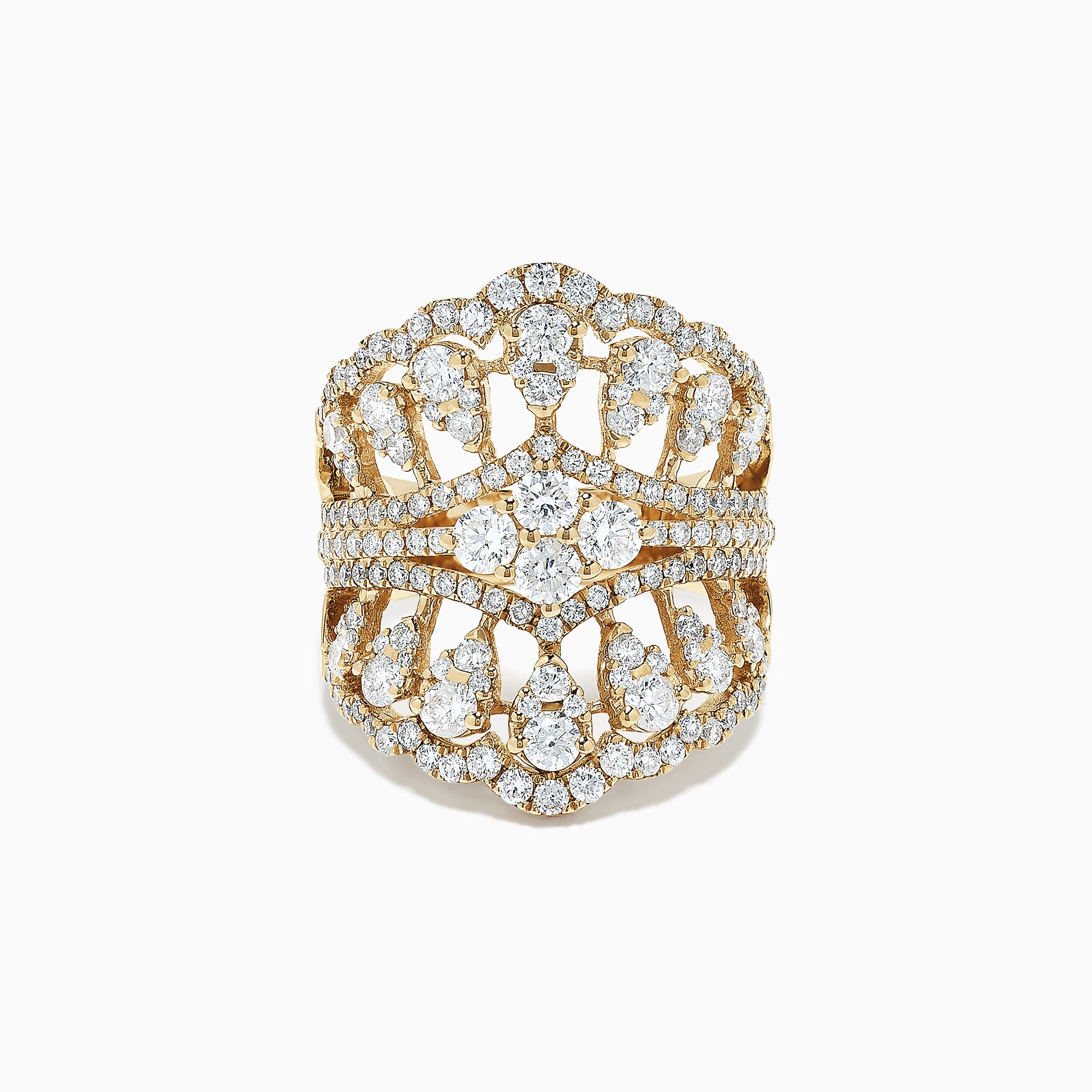 Effy D'Oro 14K Yellow Gold Diamond Ring, 2.69 TCW