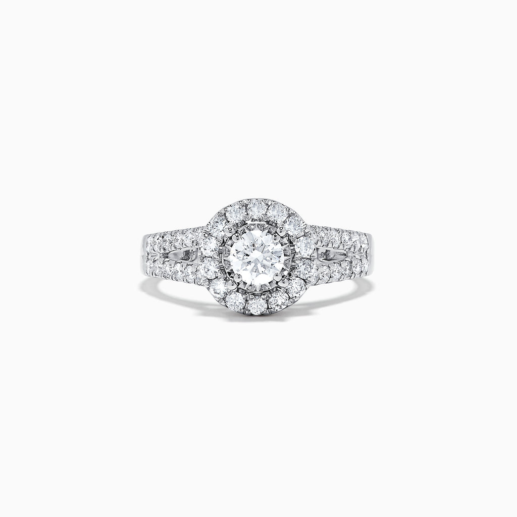 Effy Bridal 14K White Gold Diamond Ring, 1.02 TCW