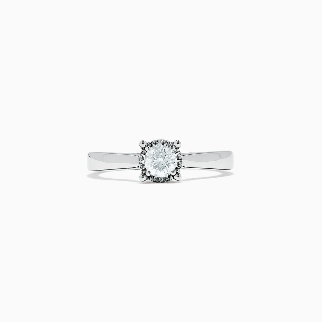 Effy Bridal 14K White Gold Diamond Ring, 0.53 TCW
