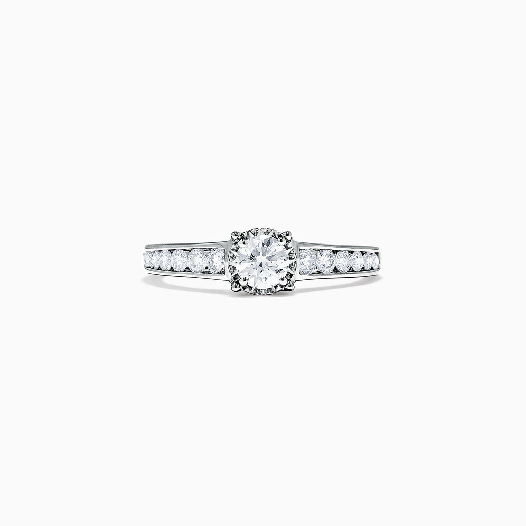 Effy Bridal 14K White Gold Diamond Ring, 0.77 TCW