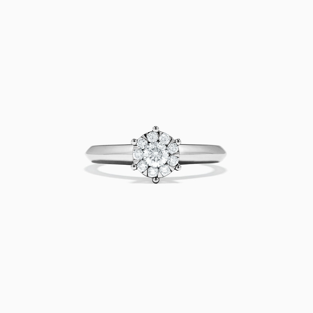 Effy Bridal 14K White Gold Diamond Ring, 0.39 TCW