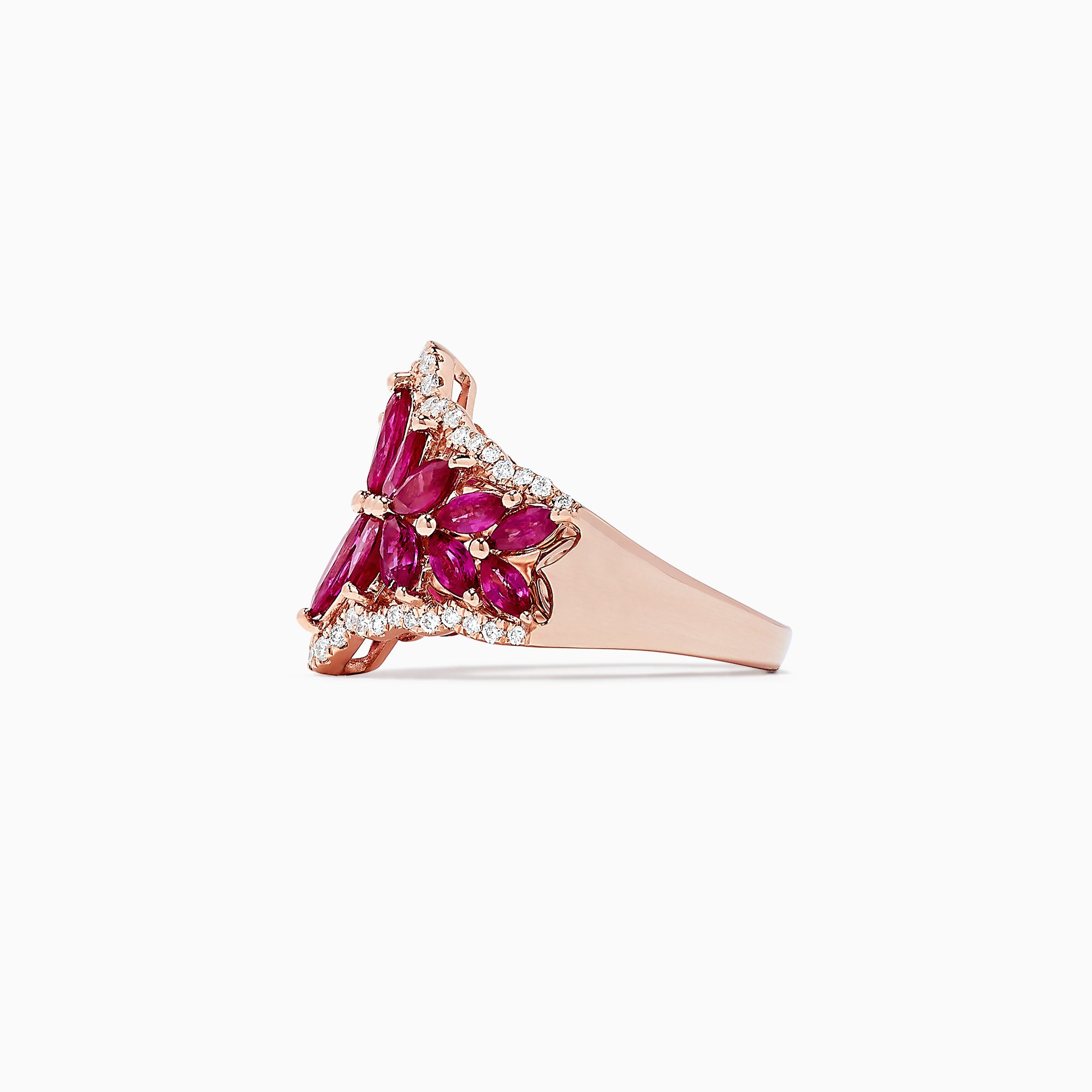 Effy Ruby Royale 14K Rose Gold Ruby and Diamond Ring, 3.48 TCW