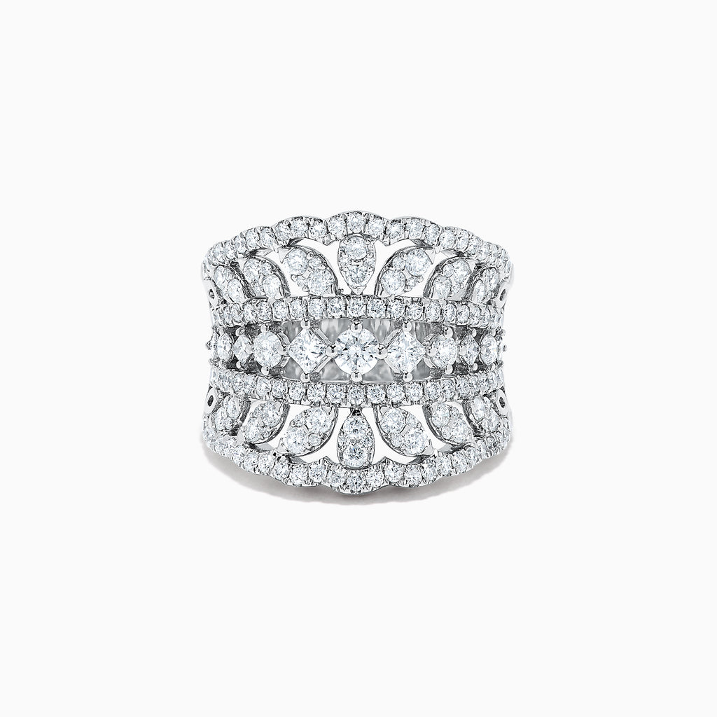 Effy Pave Classica 14K White Gold Diamond Ring, 1.90 TCW