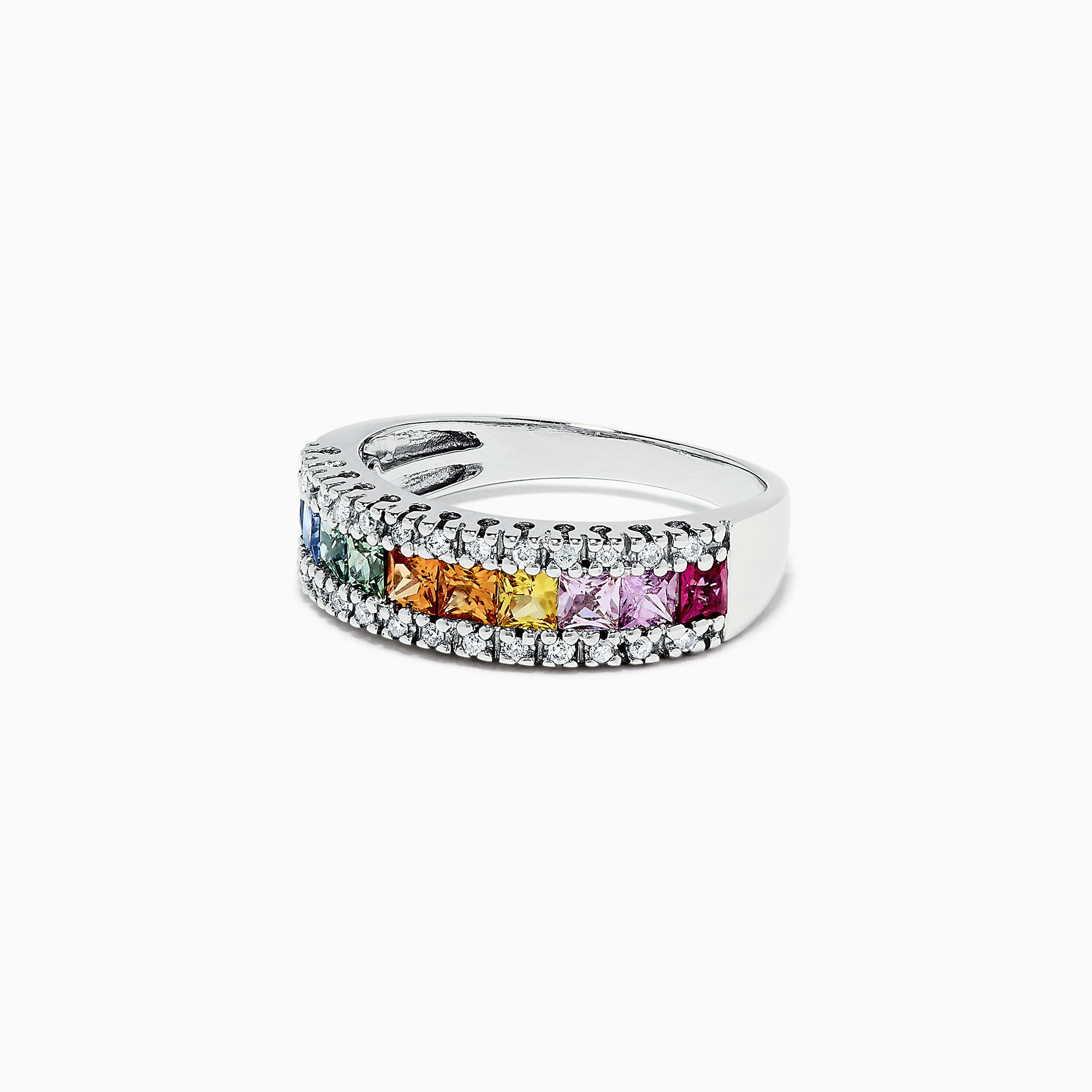 Effy Watercolors 14K White Gold Sapphire & Diamond Ring, 1.46 TCW